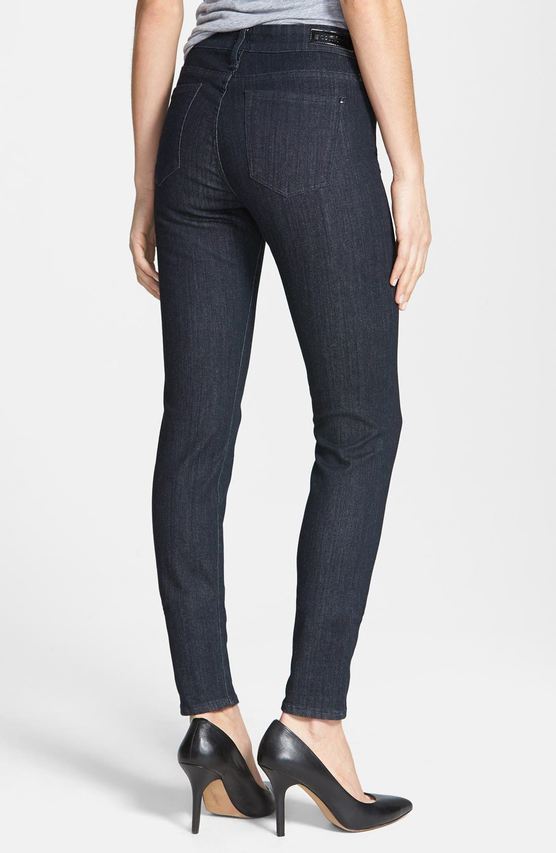 Alternate Image 2  - !iT Collective 'Lauren' Easy Skinny Jeans (Pure)