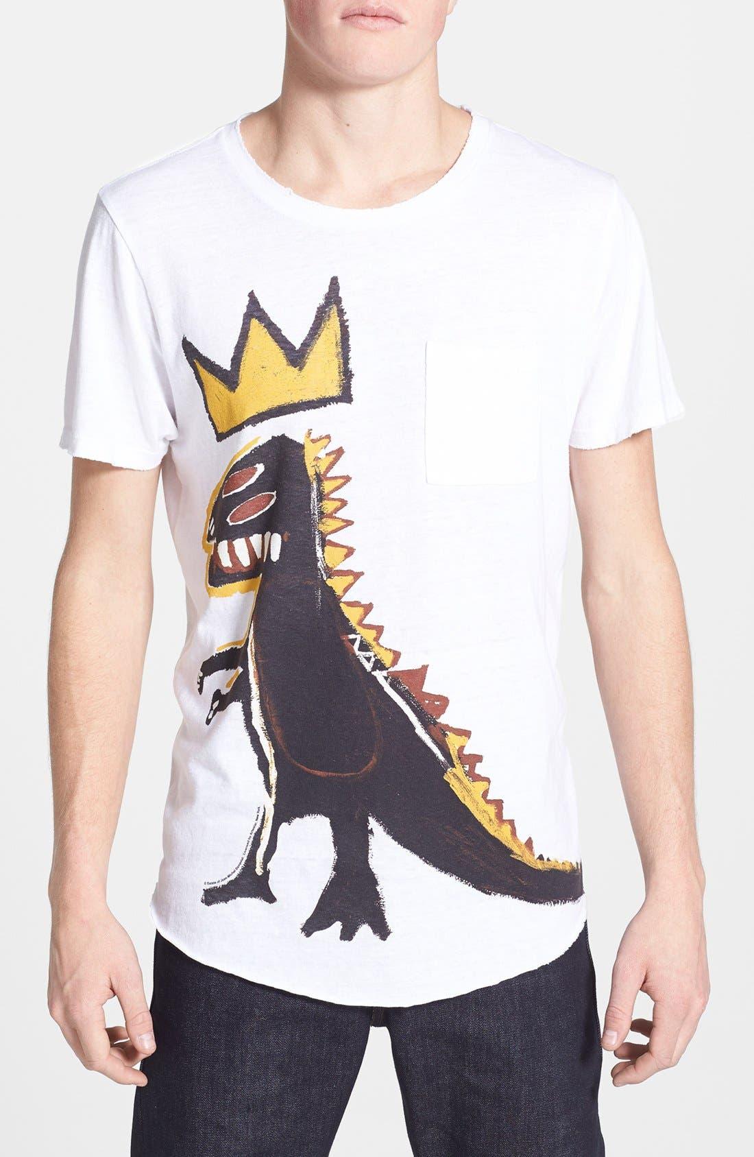 Main Image - Junk Food 'Basquiat Dinosaur' Graphic Crewneck T-Shirt