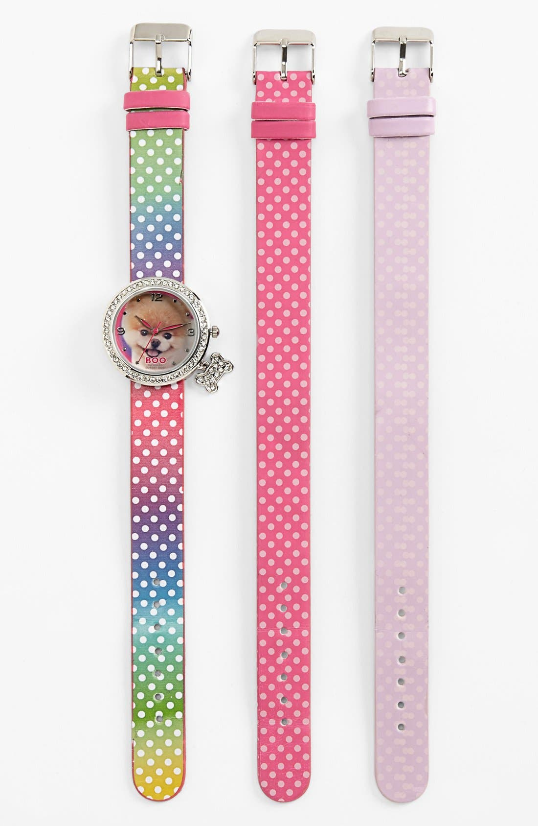 Main Image - Accutime 'Boo - The World's Cutest Dog' Watch, 34mm (Girls)