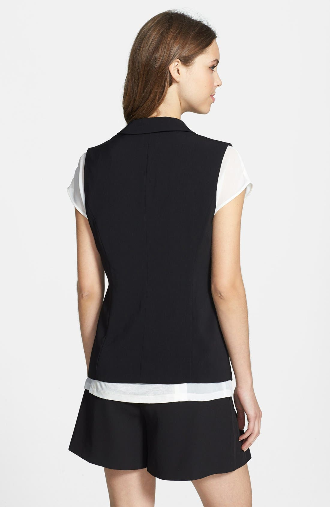 Alternate Image 2  - Halogen® Twill Vest (Regular & Petite)