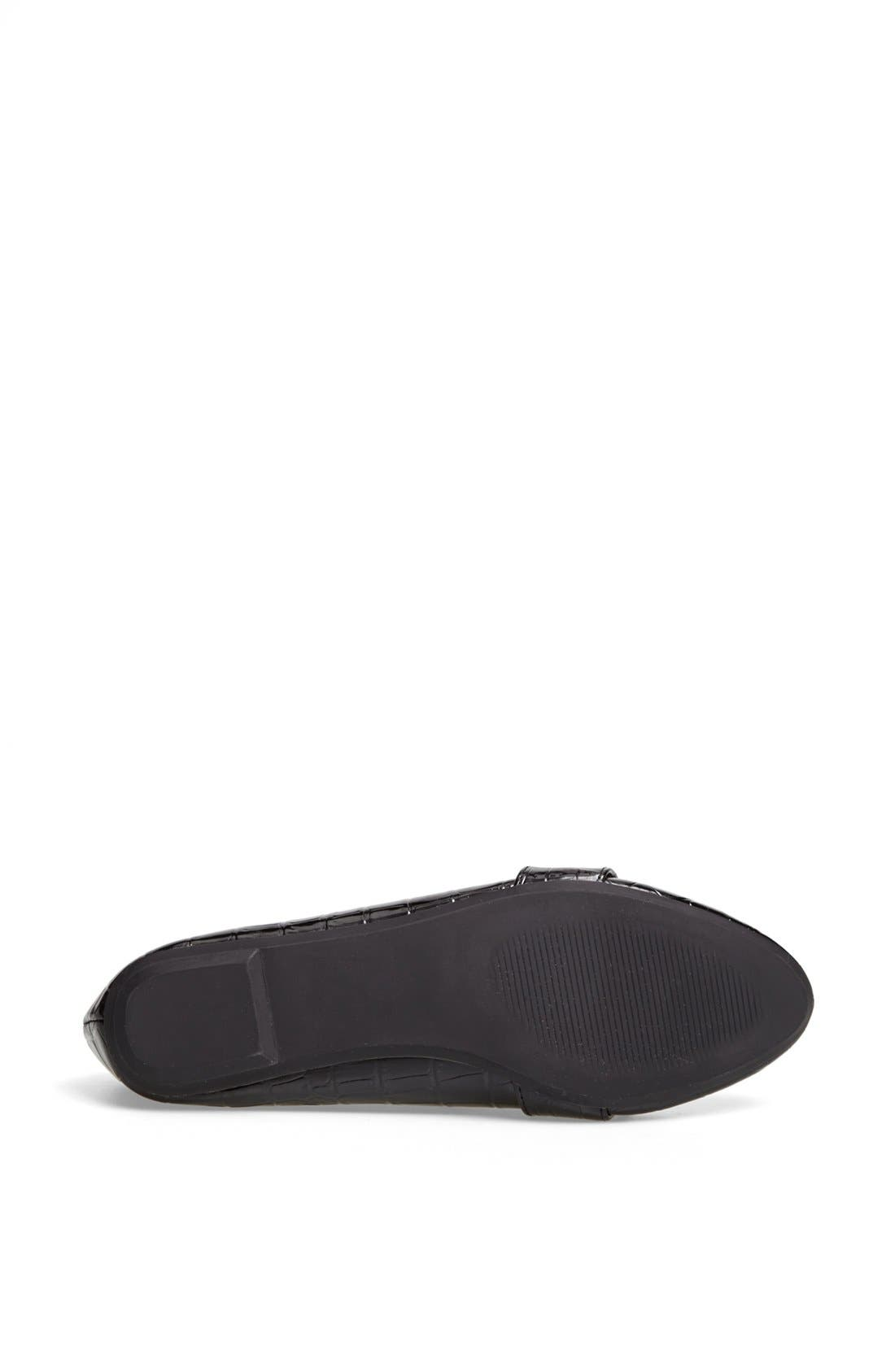 Alternate Image 4  - Topshop 'Mardi 2' Croc Embossed Flat
