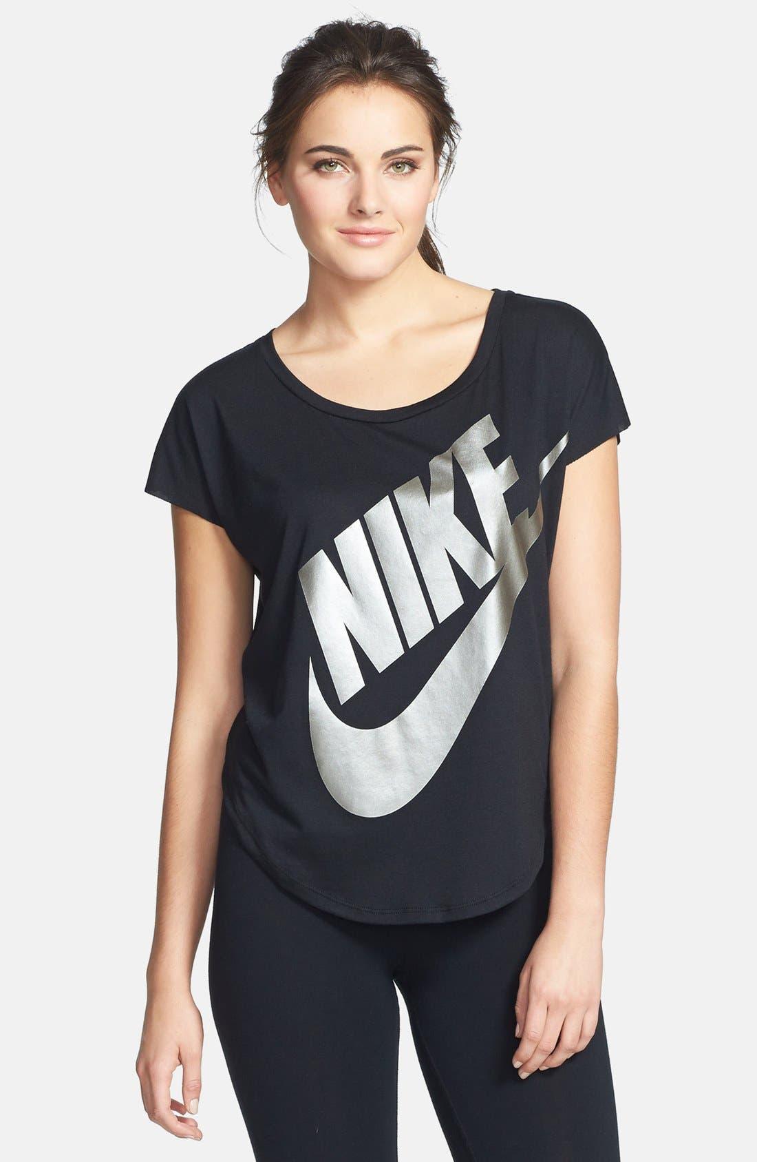 Alternate Image 1 Selected - Nike 'Signal' Logo Scoop Neck Tee