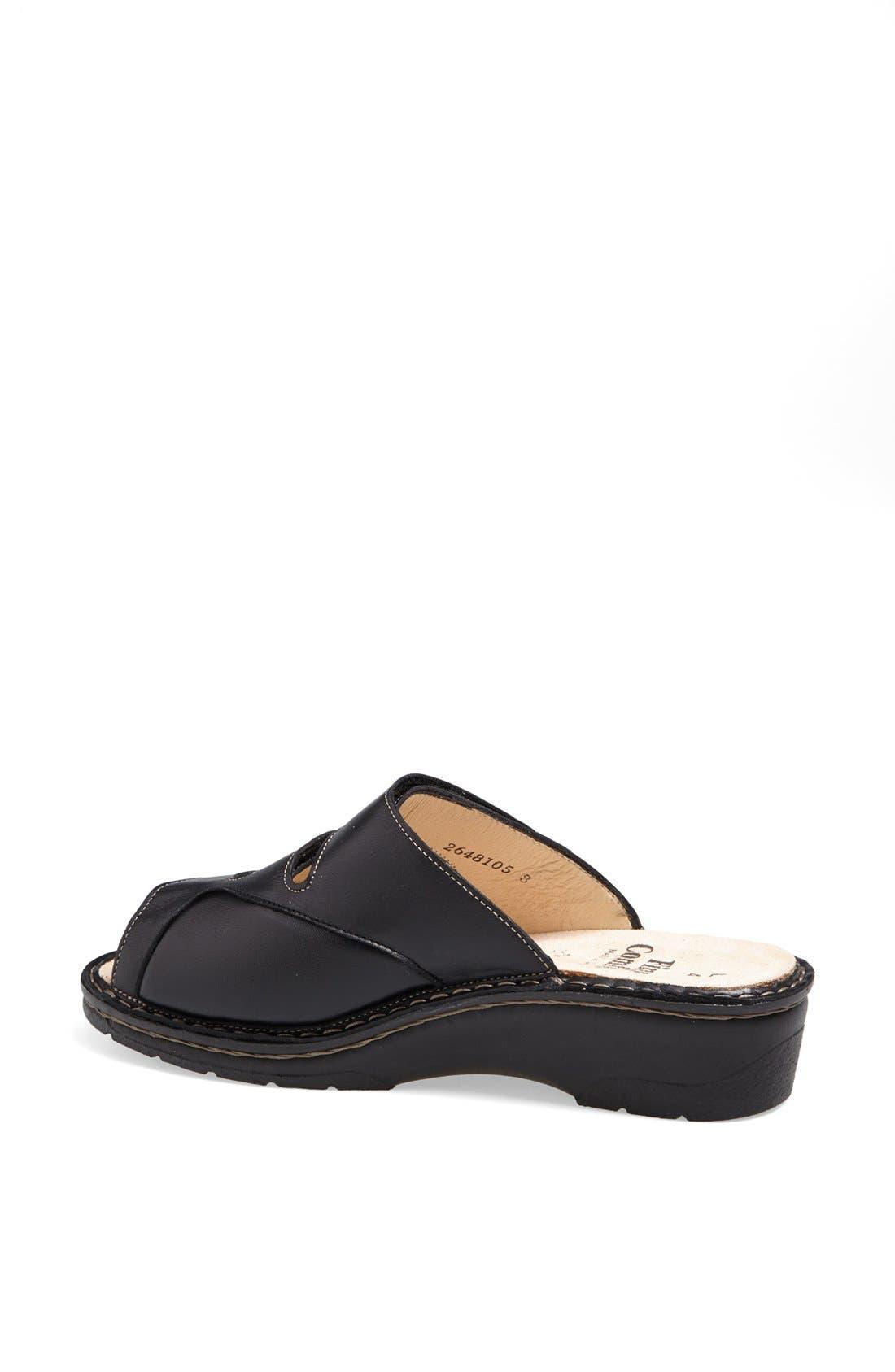 'Tilburg' Leather Sandal,                             Alternate thumbnail 2, color,                             Black