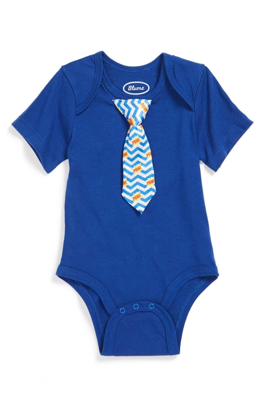 Main Image - Blume 'Tie' Bodysuit (Baby Boys)