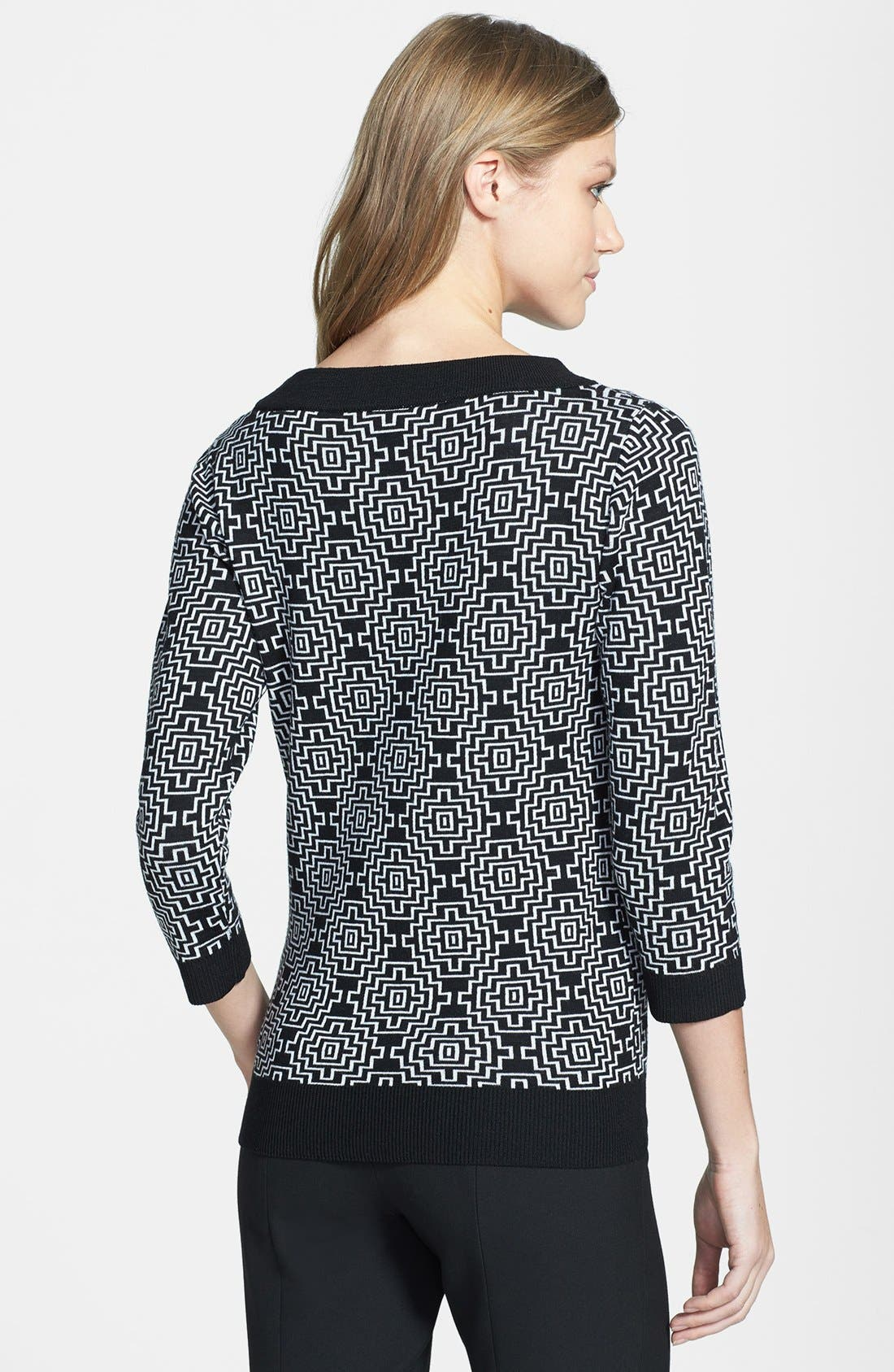 Alternate Image 2  - Classiques Entier® 'Bella Lana' Pattern Wool Pullover