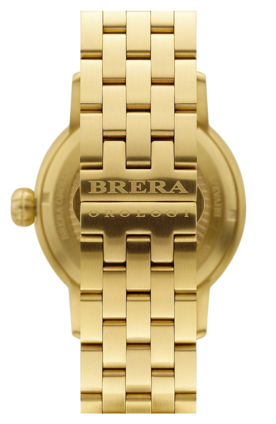 Alternate Image 2  - Brera 'Valentina' Diamond Bracelet Watch, 42mm