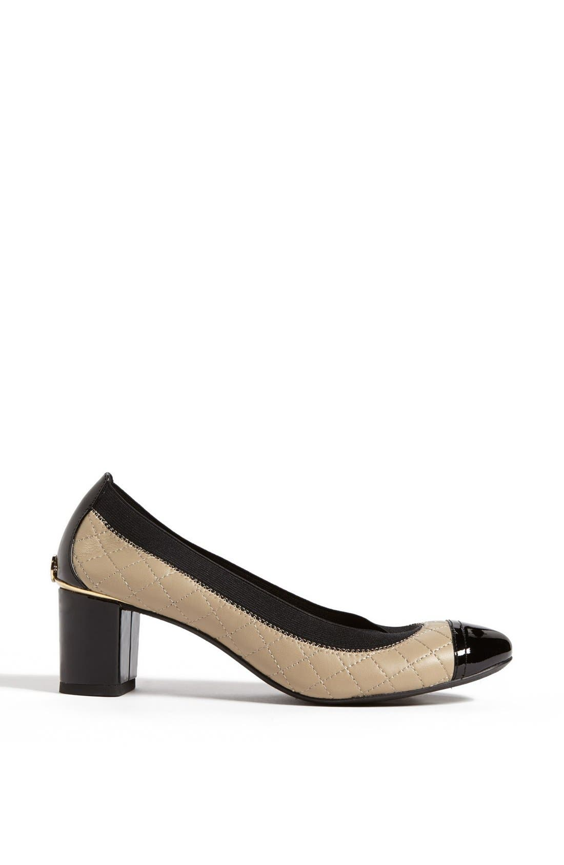 Alternate Image 4  - Tory Burch 'Carrie' Quilted Leather Cap Toe Pump