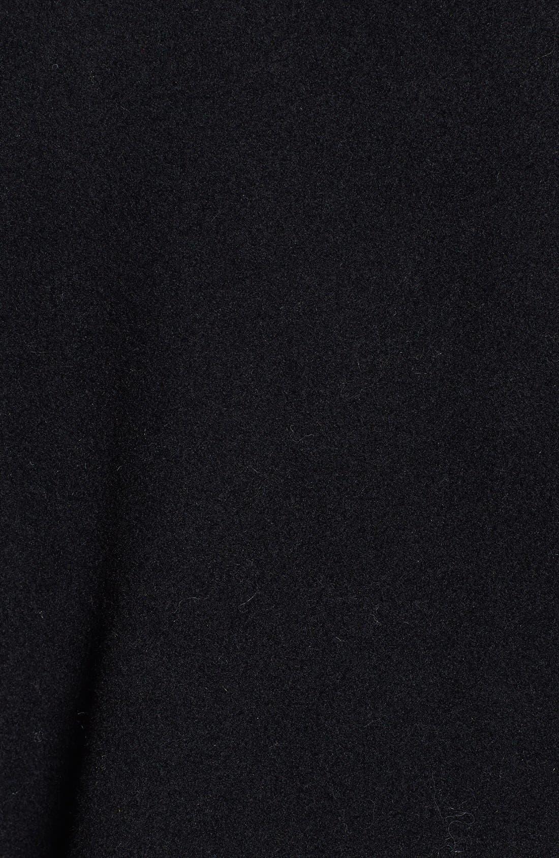 Alternate Image 3  - Ellen Tracy Faux Fur Trim Long Wool Blend Coat