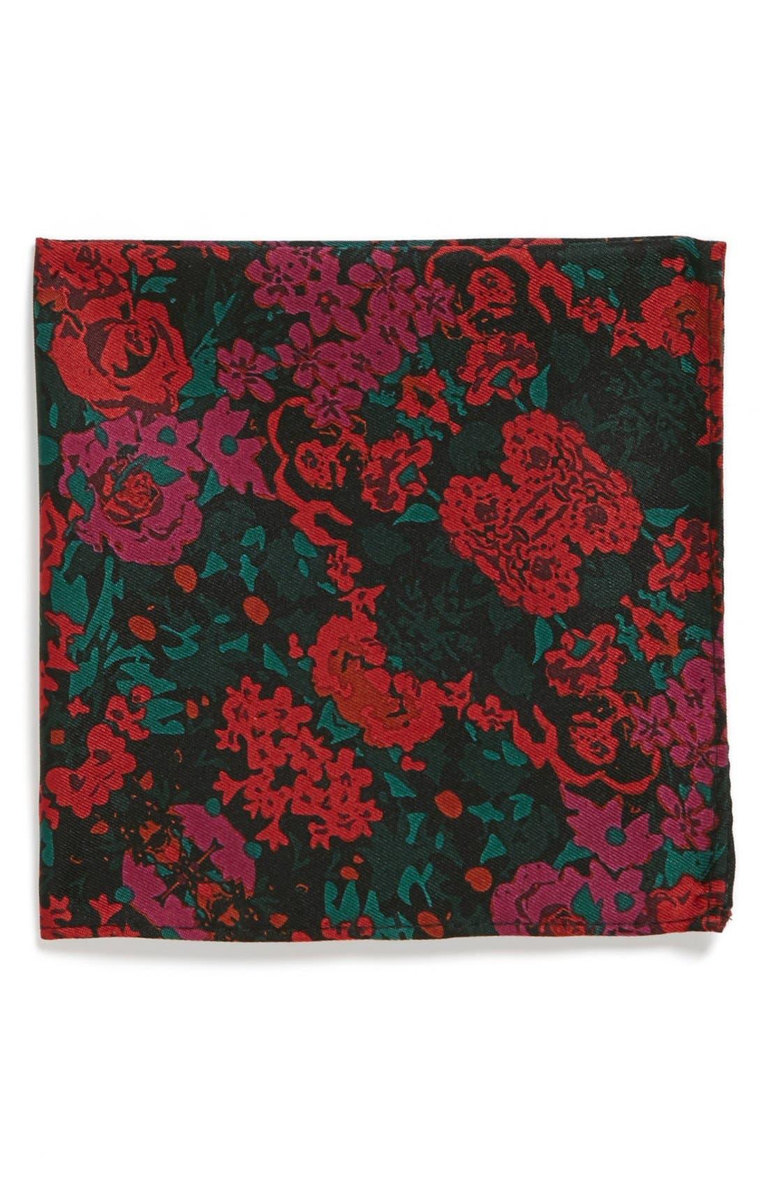 Alternate Image 1 Selected - Topman Floral Print Pocket Square