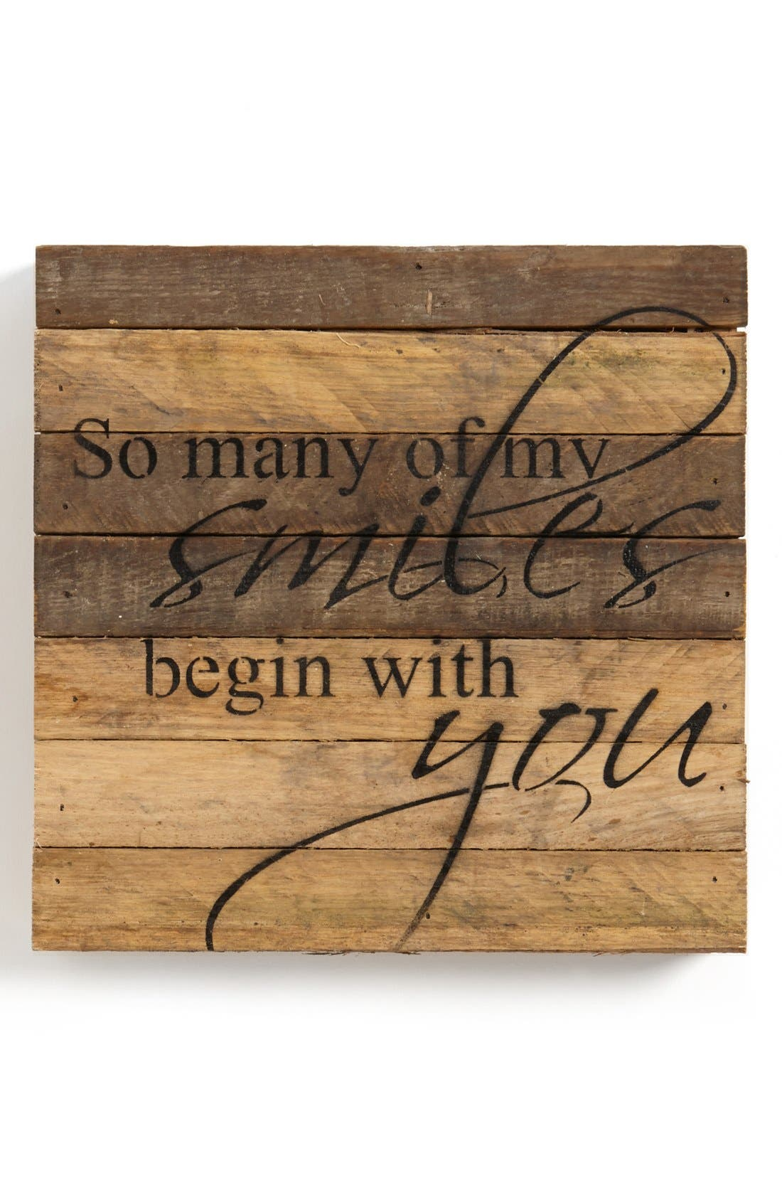 Alternate Image 1 Selected - Second Nature By Hand 'My Smiles Begin with You' Repurposed Wood Wall Art
