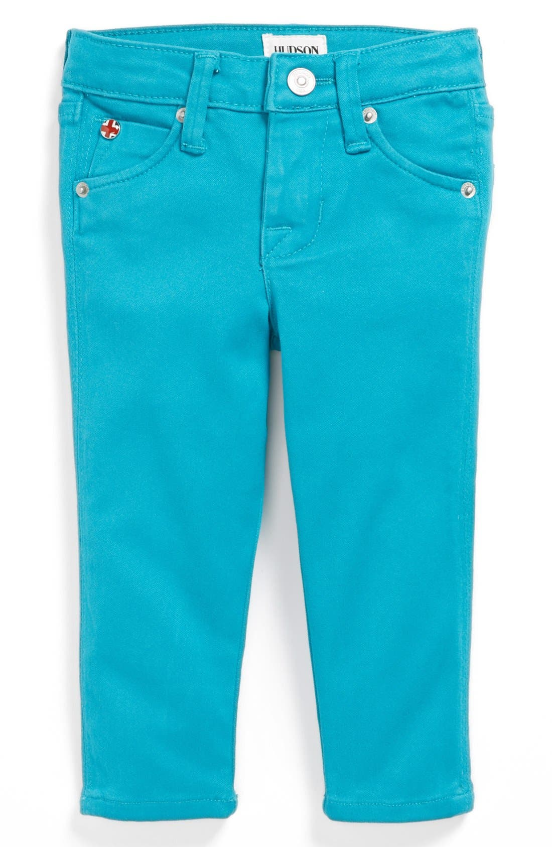 Alternate Image 2  - Hudson Kids 'Collin' Skinny Jeans (Baby Girls)