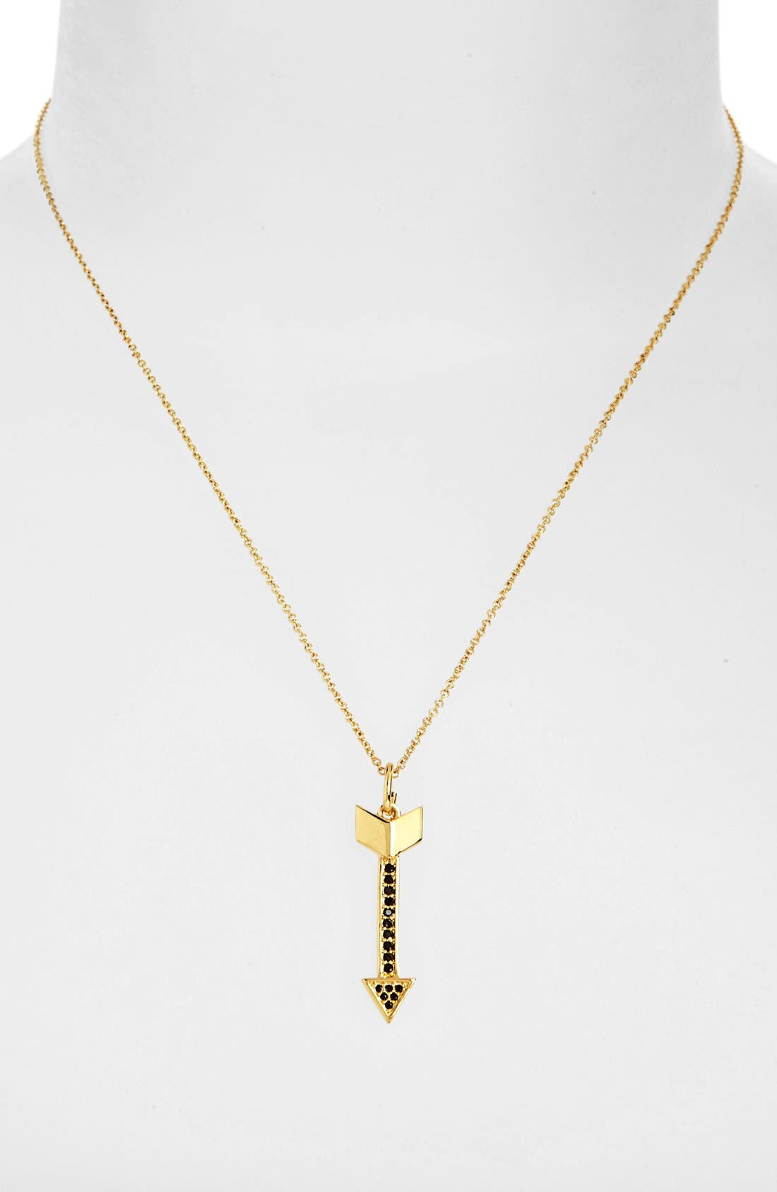 Main Image - Rebecca Minkoff Pavé Arrow Pendant Necklace