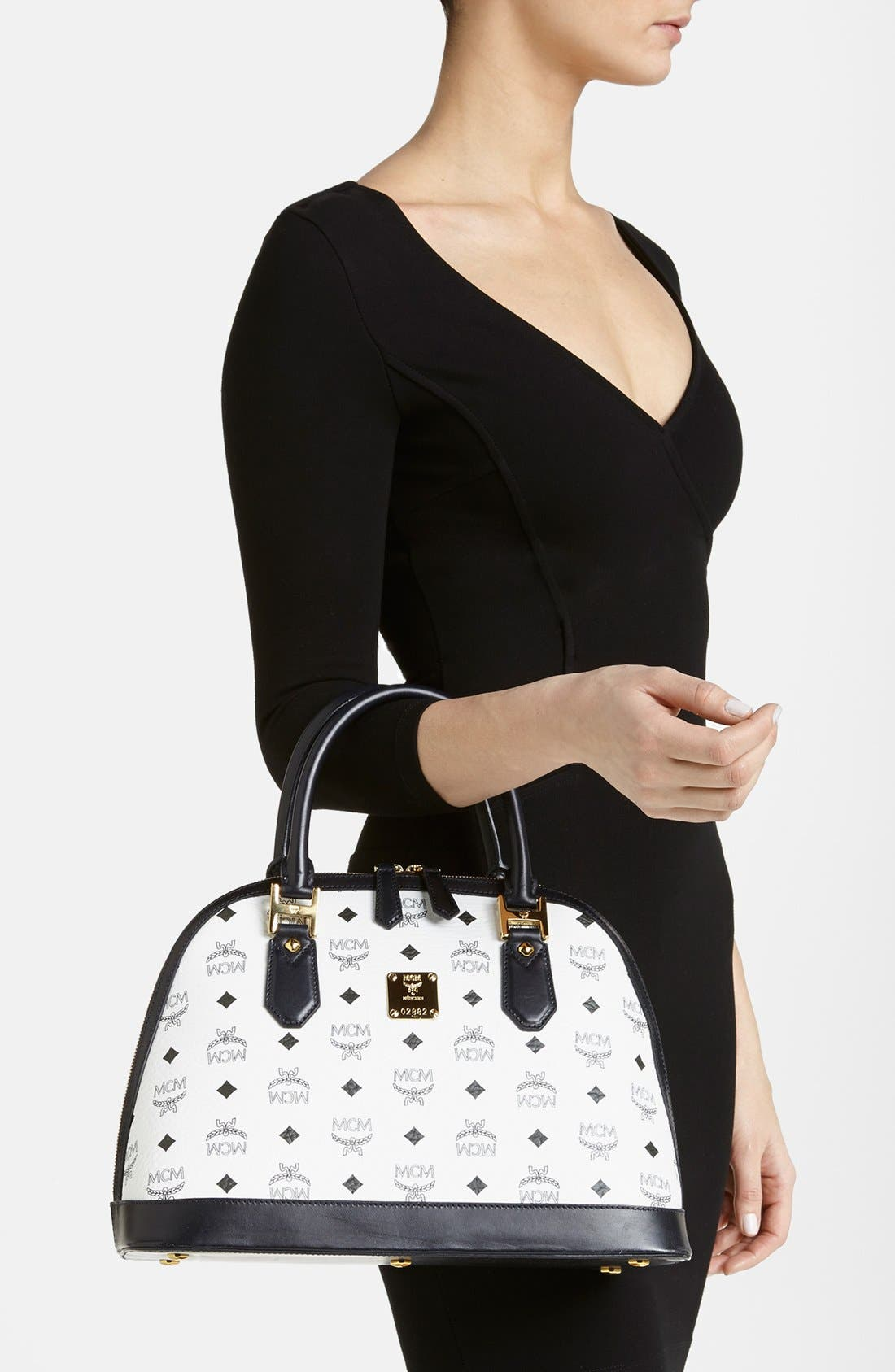 Alternate Image 2  - MCM 'Medium Heritage - Visetos' Coated Canvas Bowler Bag