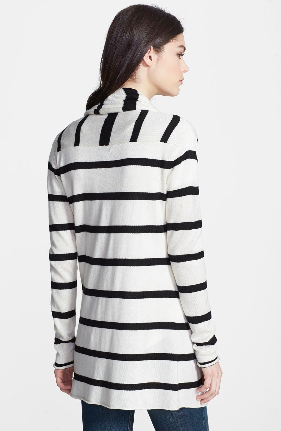 Alternate Image 2  - Splendid Stripe Open Front Cardigan