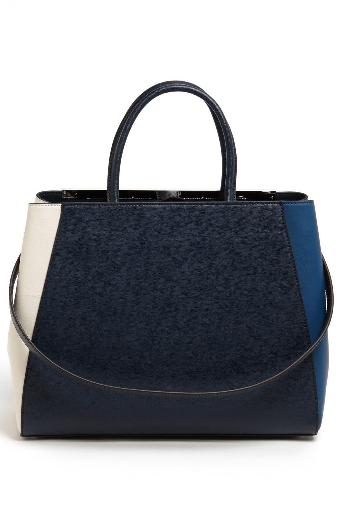 Alternate Image 4  - Fendi 'Medium 2Jours Tricolor' Leather Shopper