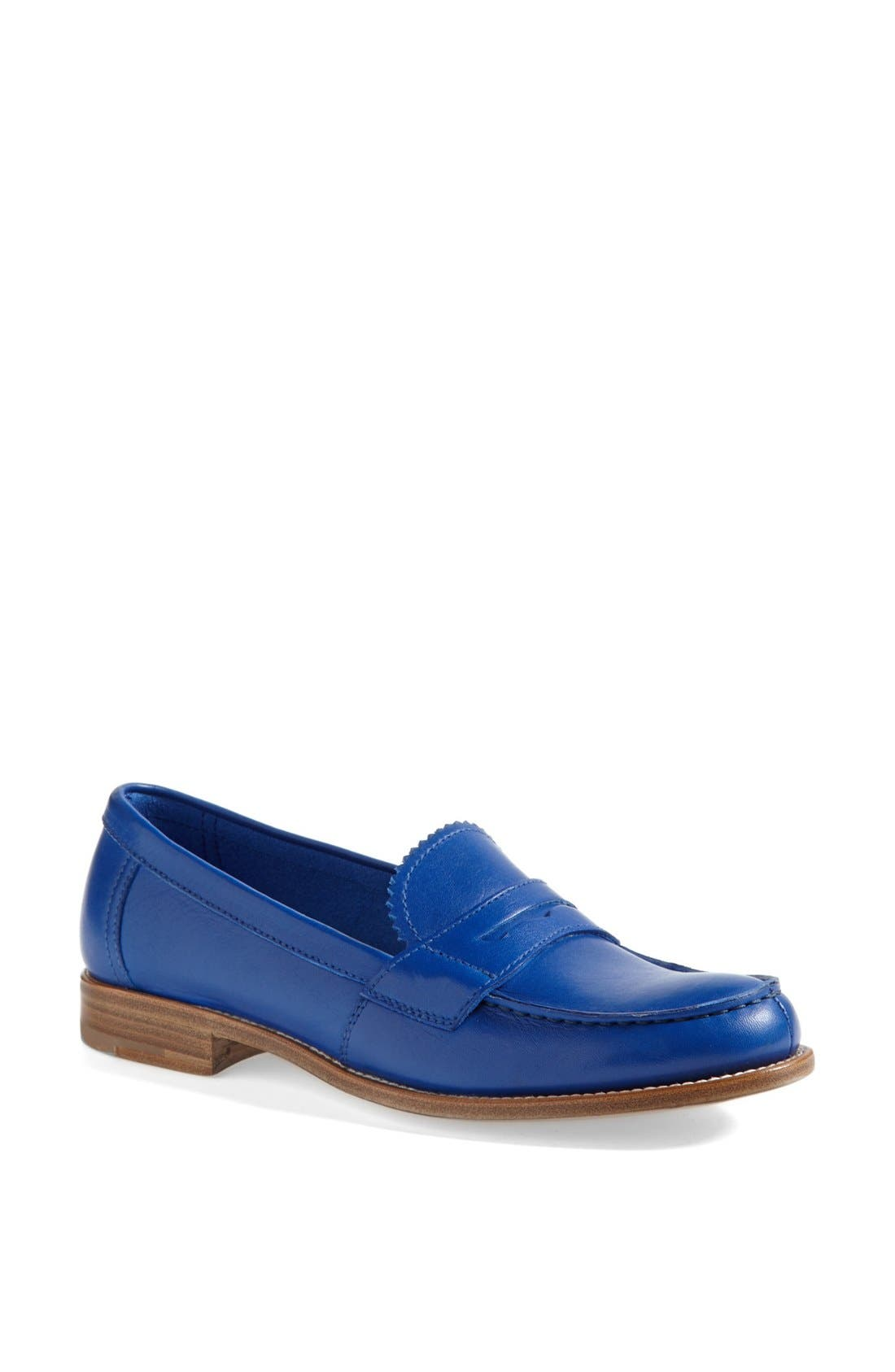 Penny Front Moccasin,                         Main,                         color, Coblat