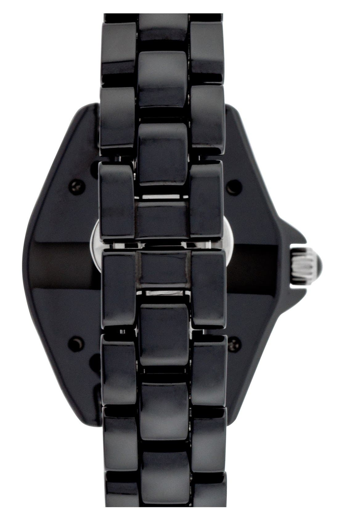 Alternate Image 2  - Isaac Mizrahi New York Pavé Bezel Ceramic Bracelet Watch, 38mm