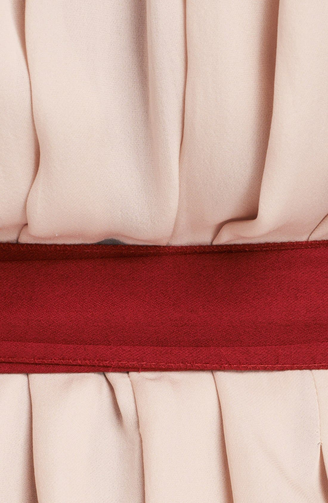 Alternate Image 3  - L'AGENCE Pleated Silk Dress with Sash