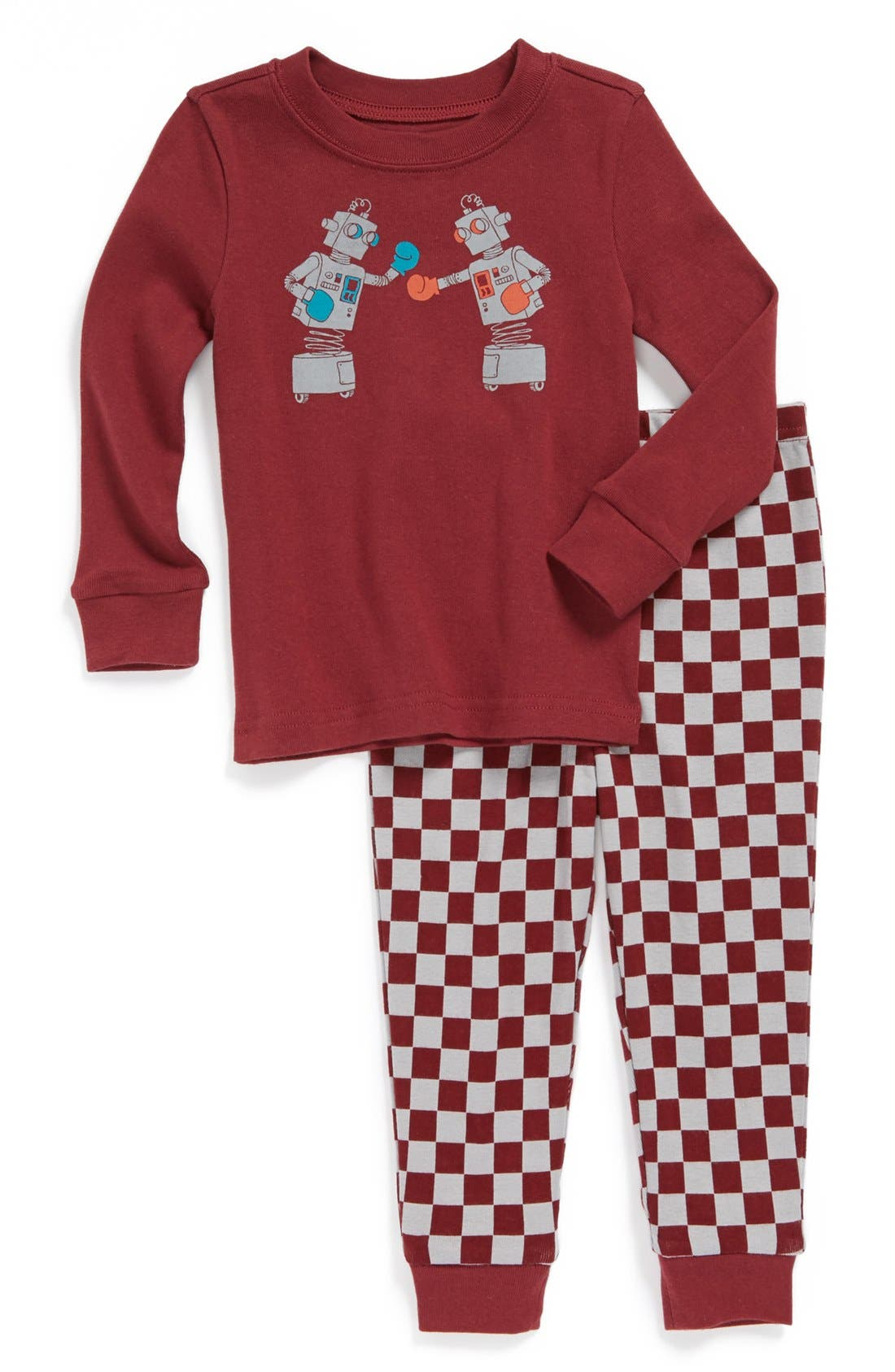 Main Image - Tucker + Tate Two-Piece Fitted Pajamas (Toddler Boys)