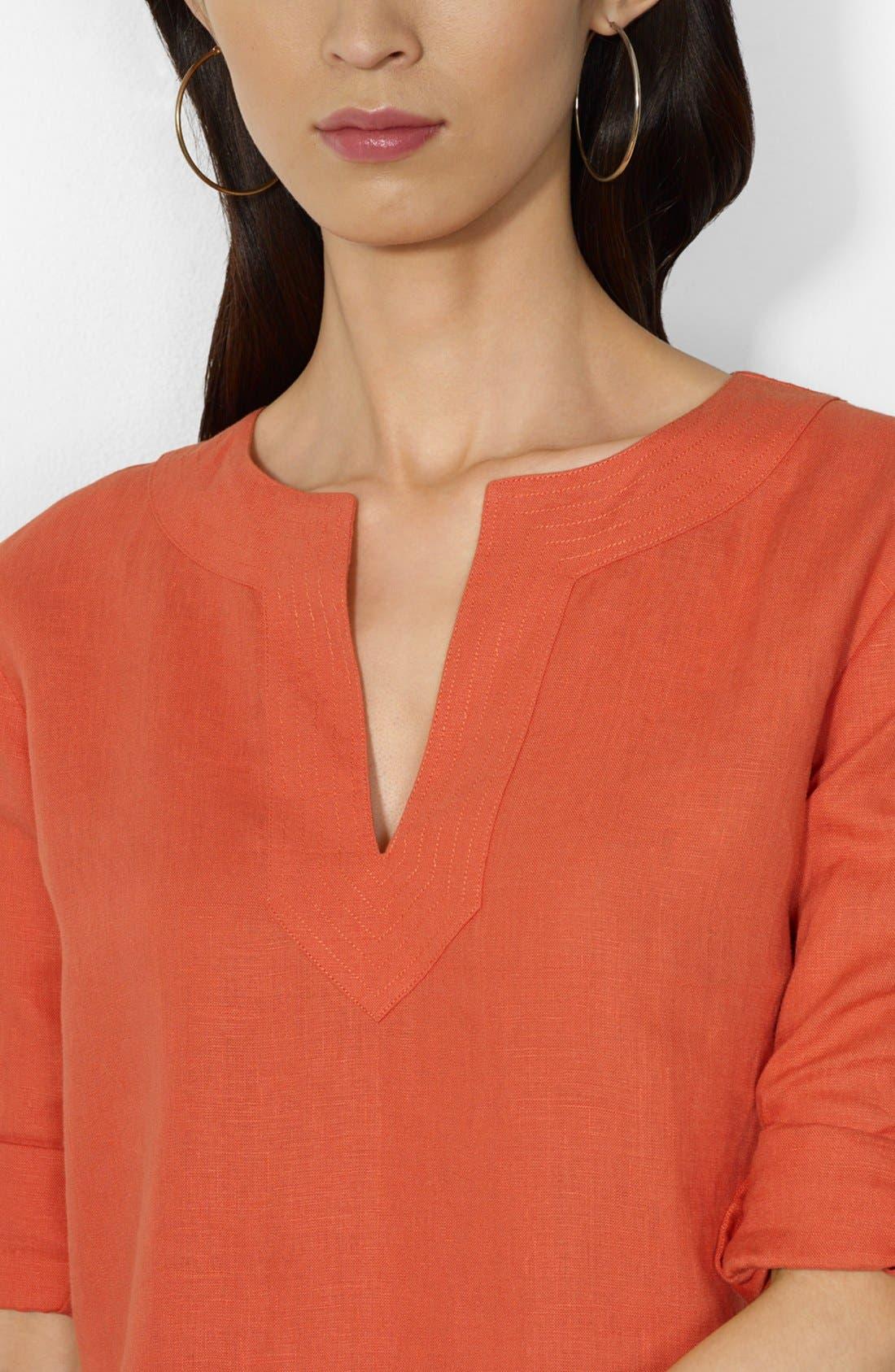 Alternate Image 2  - Lauren Ralph Lauren Split Neck Tunic
