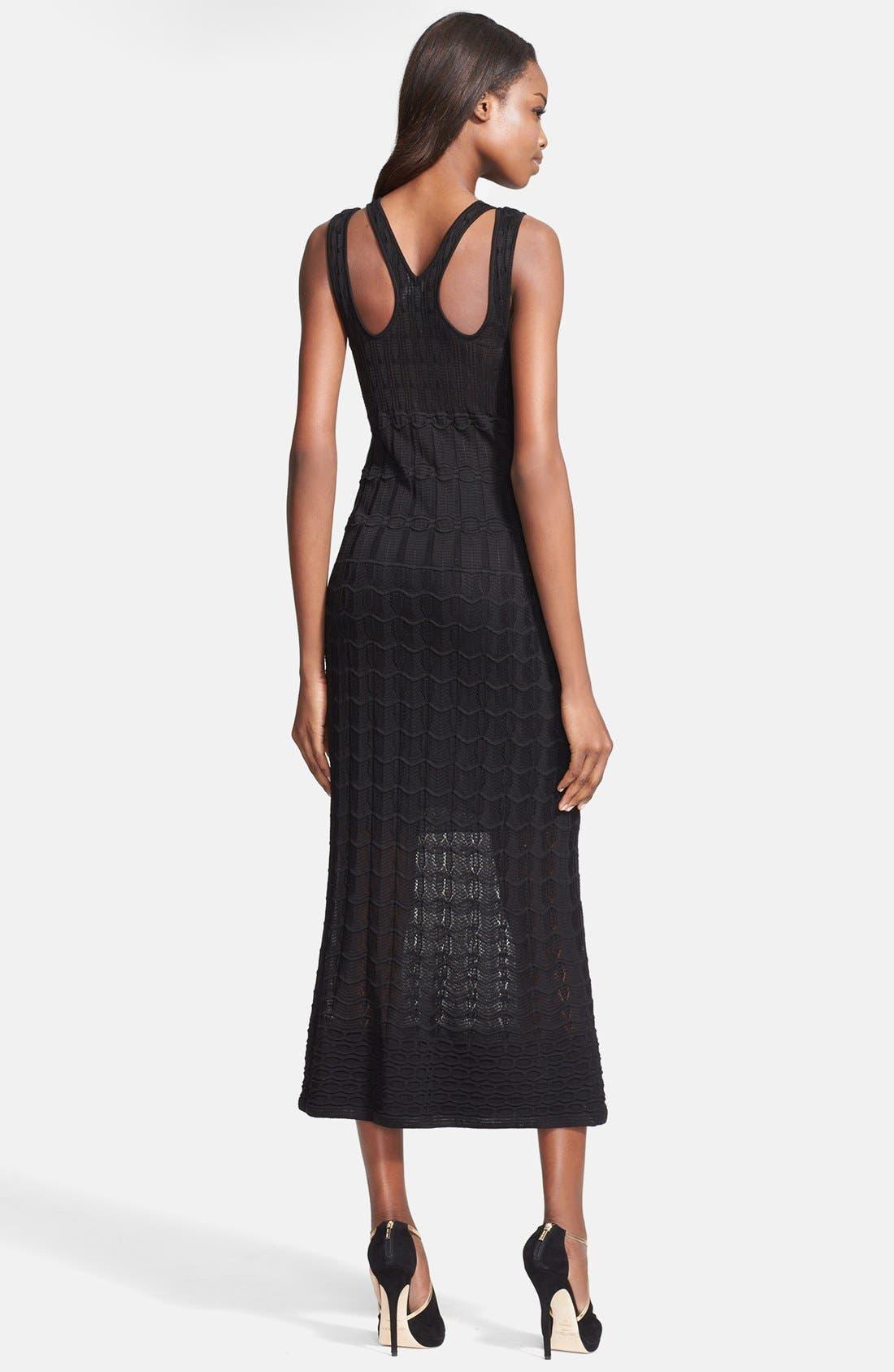 Alternate Image 2  - M Missoni Knit Cotton Blend Midi Dress