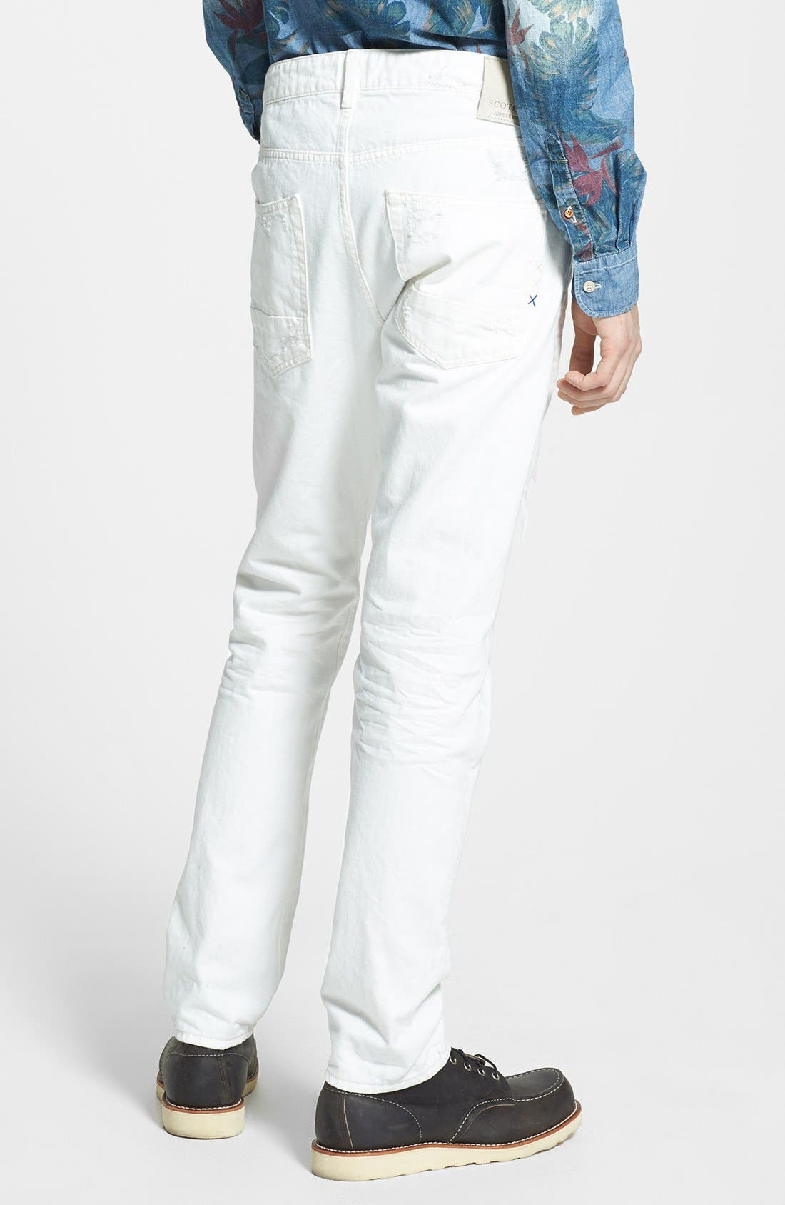 Alternate Image 2  - Scotch & Soda 'Ralston' Slim Straight Leg Jeans (Washed Out White)