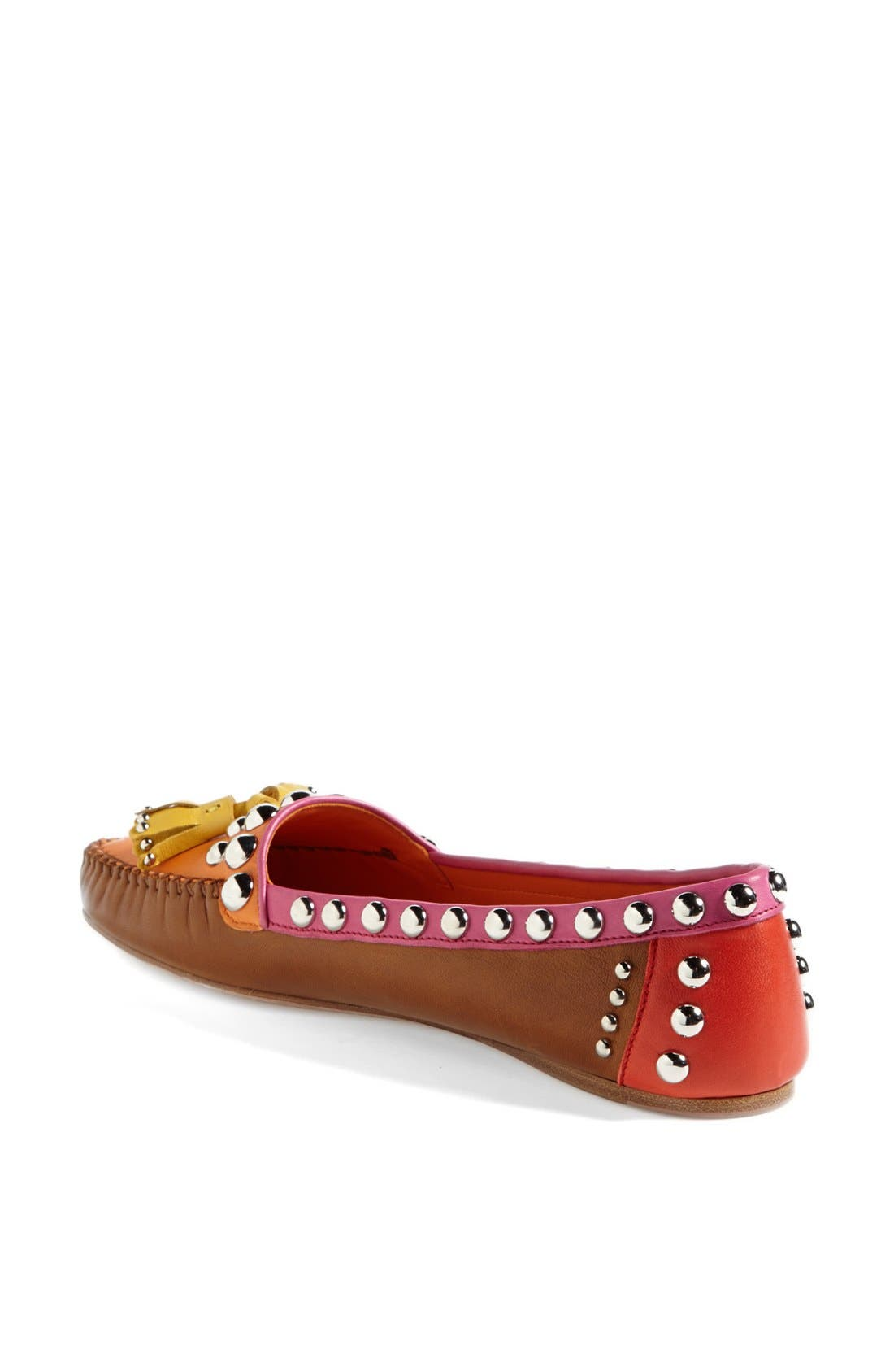 Alternate Image 2  - Prada Studded Tassel Moccasin