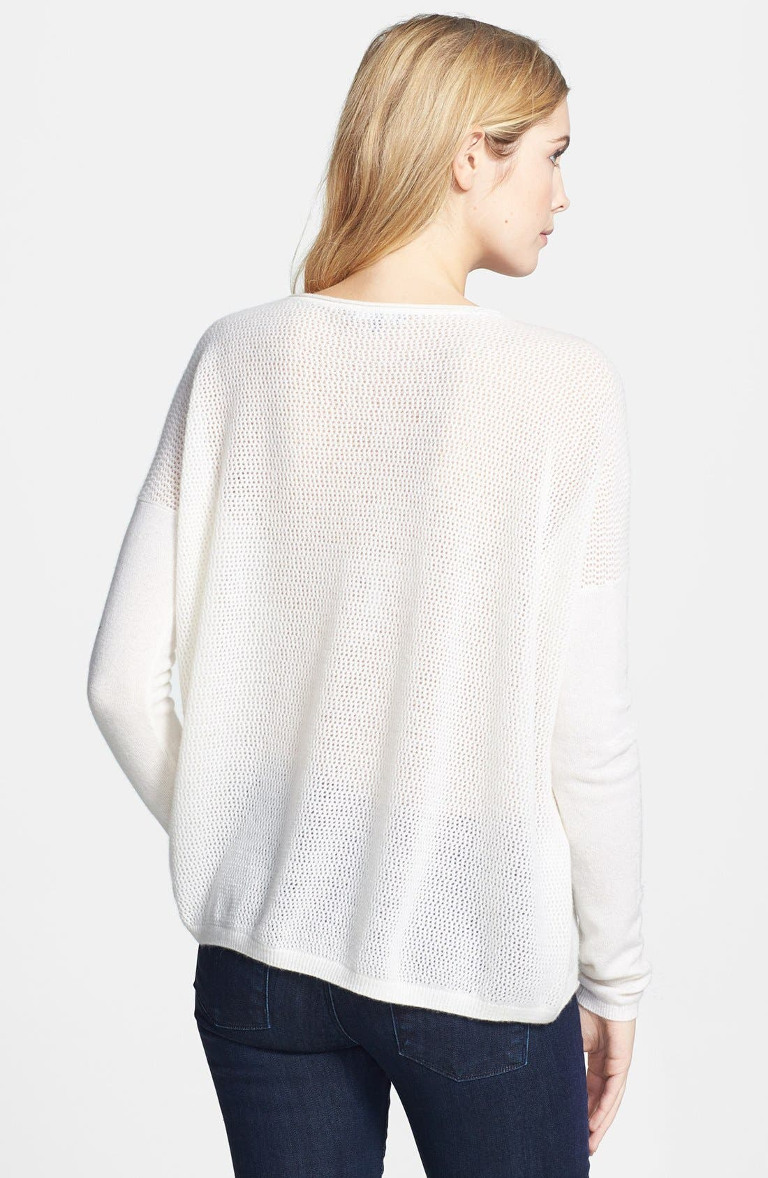 Alternate Image 2  - Vince Perforated Cashmere Boatneck Sweater