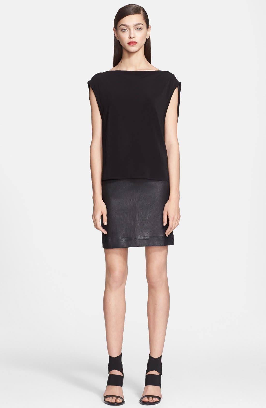Main Image - Helmut Lang 'Faint' Boatneck Top