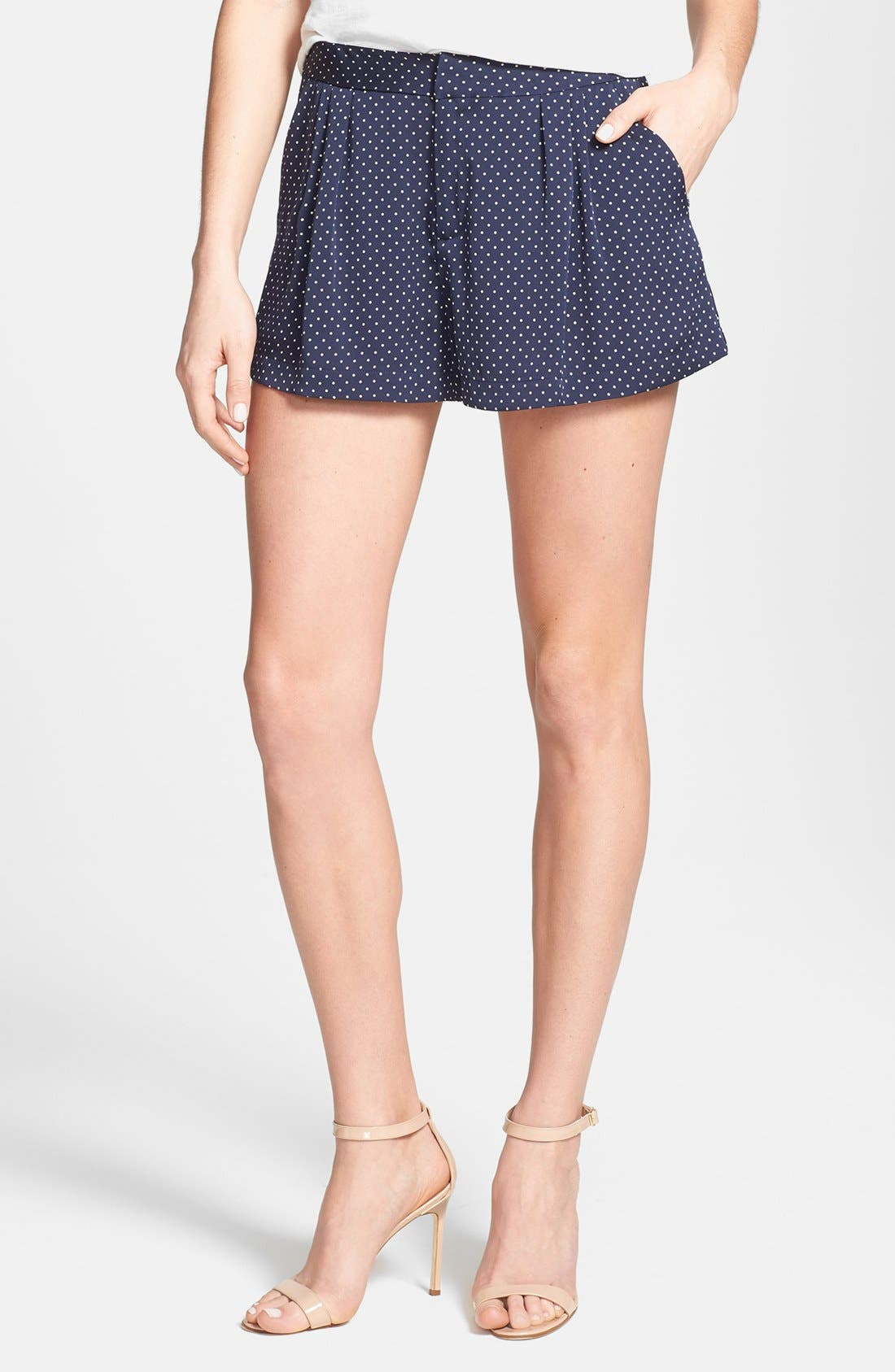 Main Image - Joie 'Palina' Polka Dot Silk Shorts