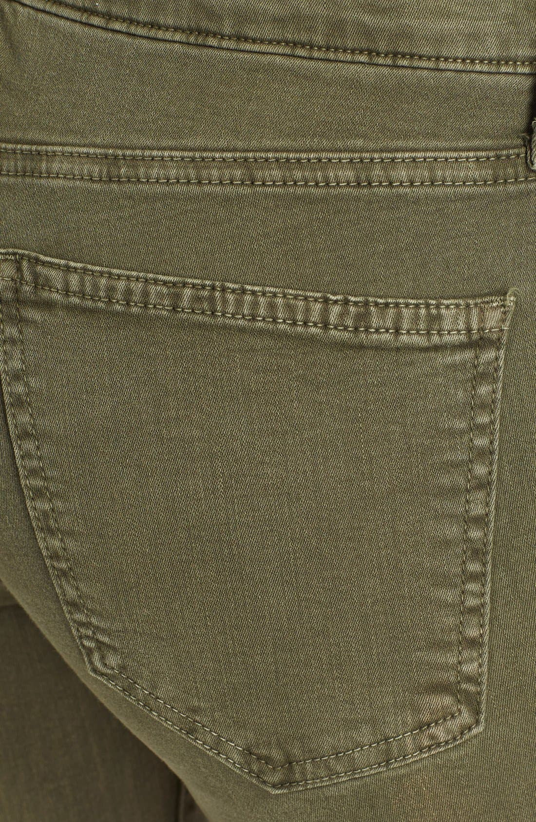 Alternate Image 3  - Current/Elliott 'The Soho Zip Stiletto' Skinny Jeans (Army)
