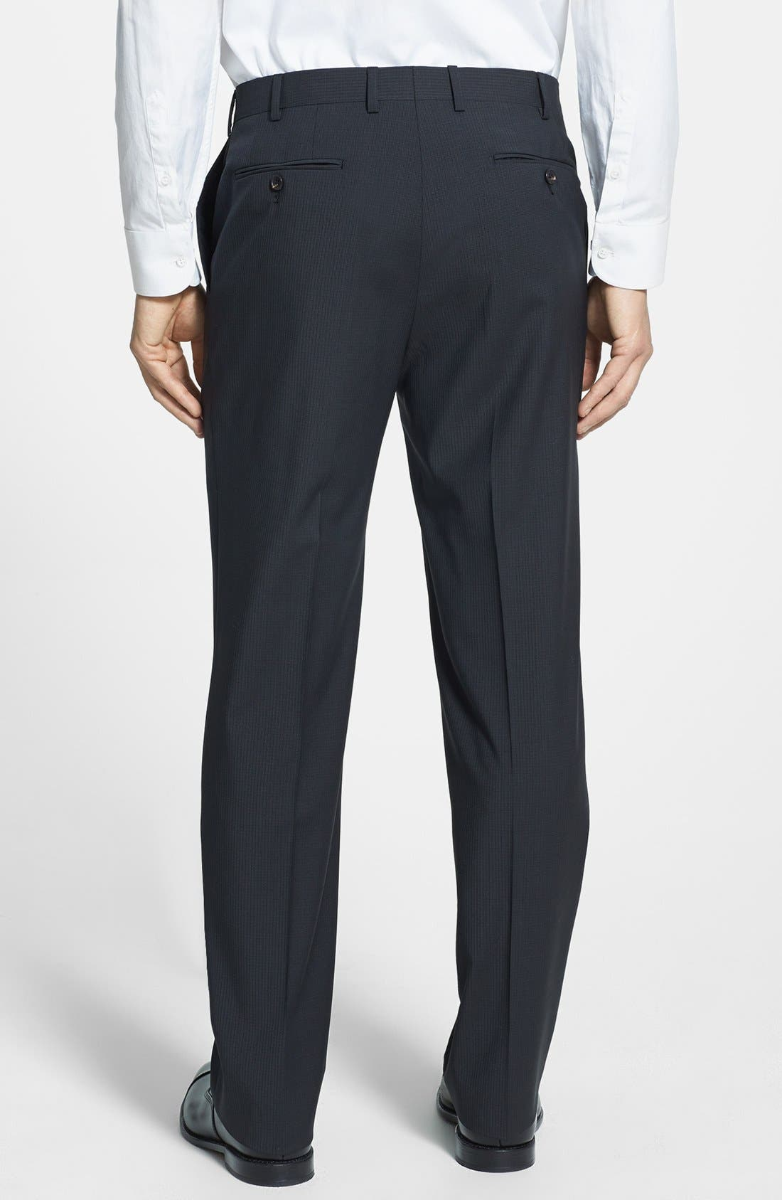 Alternate Image 2  - Pal Zileri 'Zignone' Flat Front Trousers