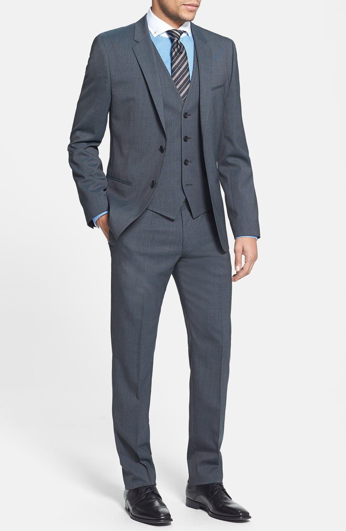 Alternate Image 1 Selected - HUGO 'Arant/Won/Hixby' Extra Trim Fit Three-Piece Suit
