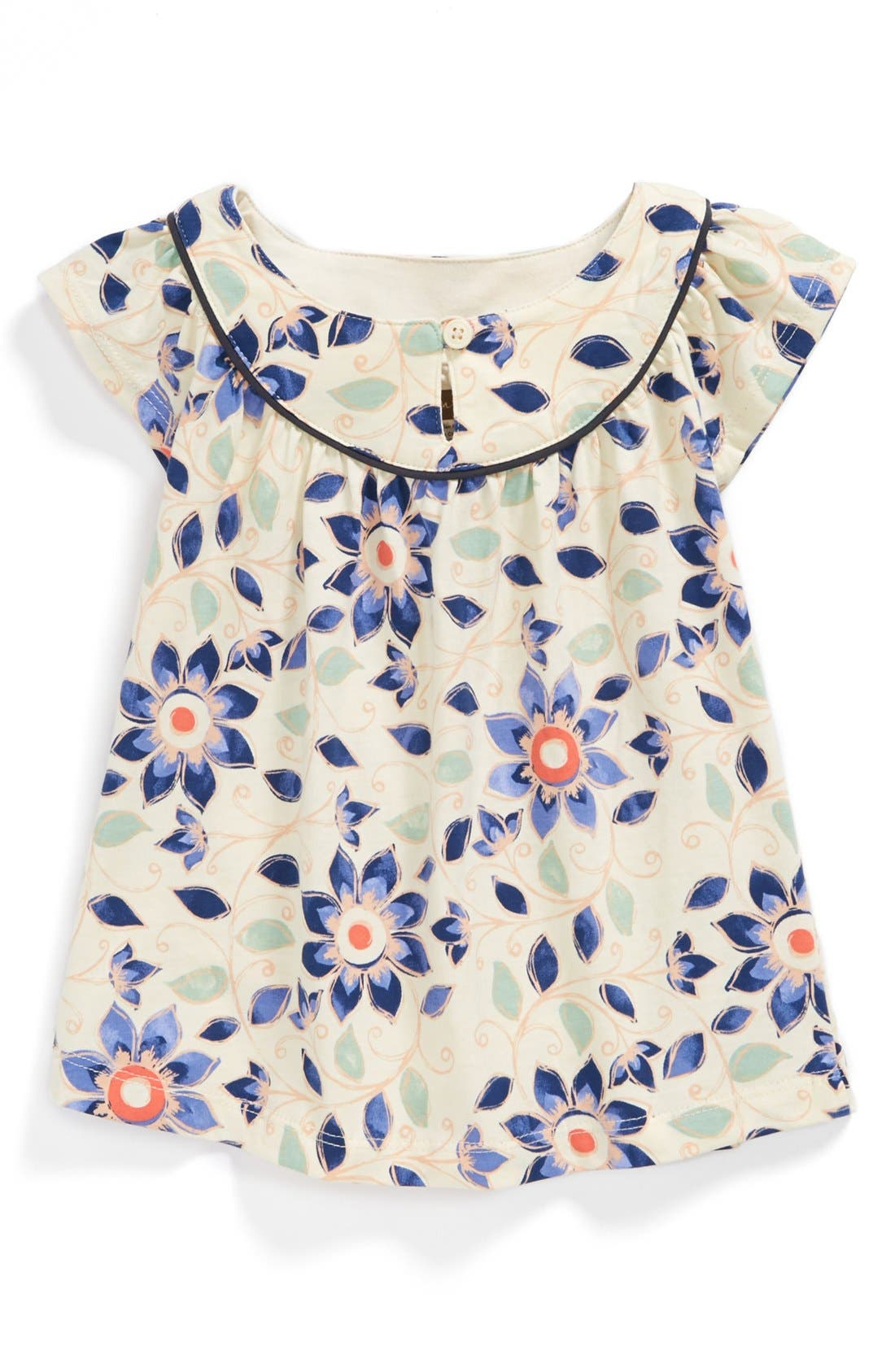 Main Image - Tea Collection 'Art Naji' Flutter Sleeve Dress (Baby Girls)