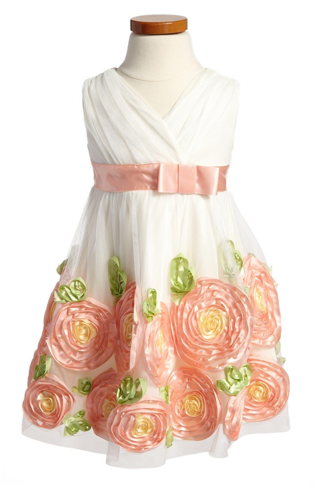 Main Image - Iris & Ivy Rose Border Dress (Toddler Girls)