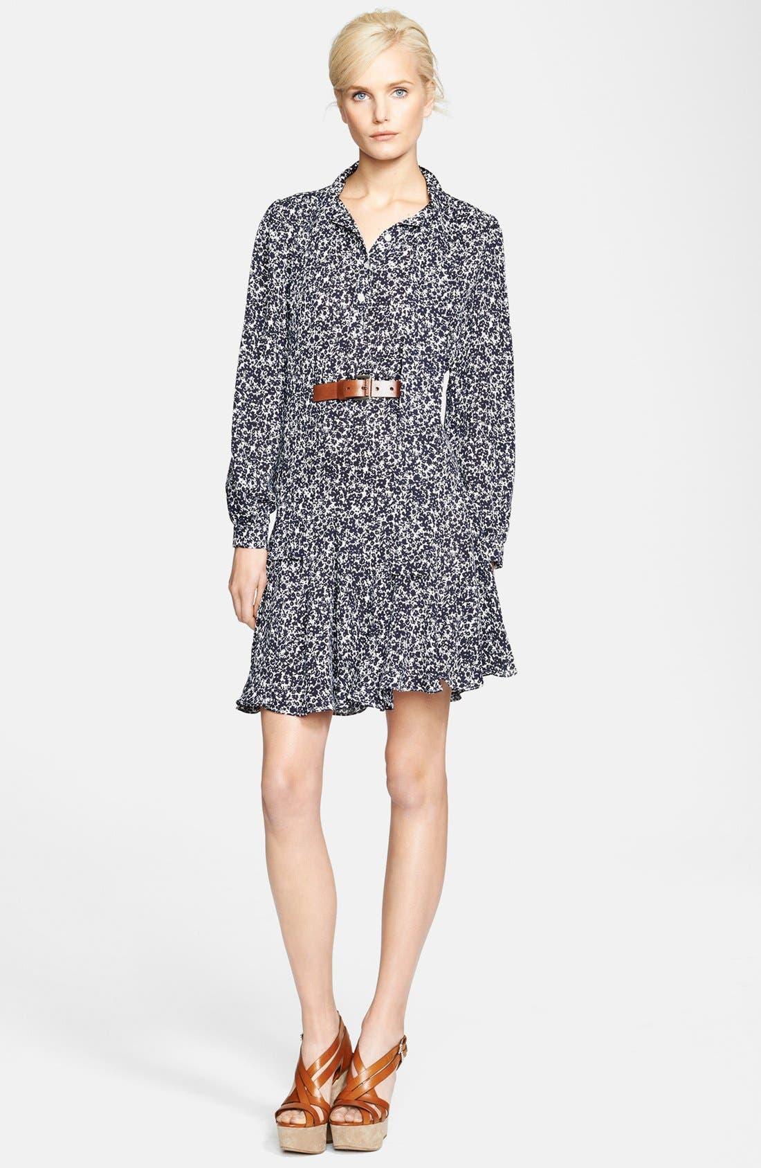 Alternate Image 1 Selected - Michael Kors Print Silk Georgette Dress