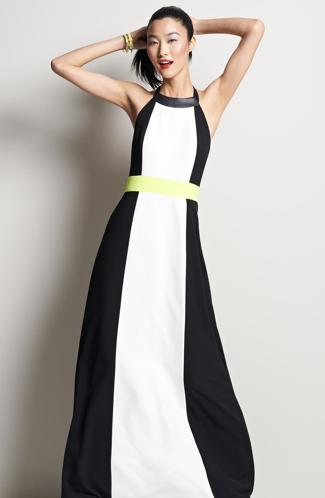 Alternate Image 5  - Vince Camuto Colorblock Halter Maxi Dress