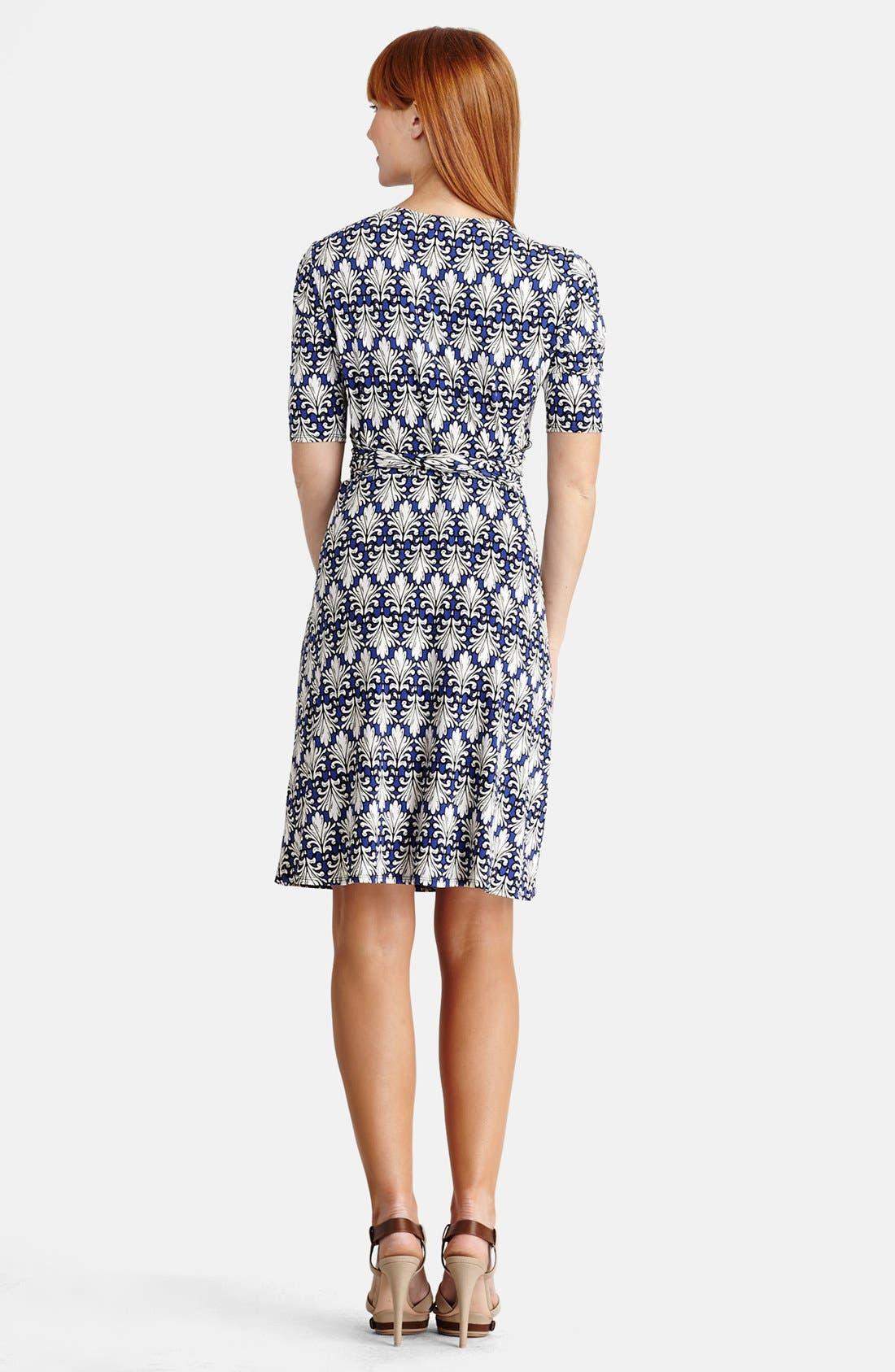 Alternate Image 2  - Donna Morgan Jersey Wrap Fit & Flare Dress