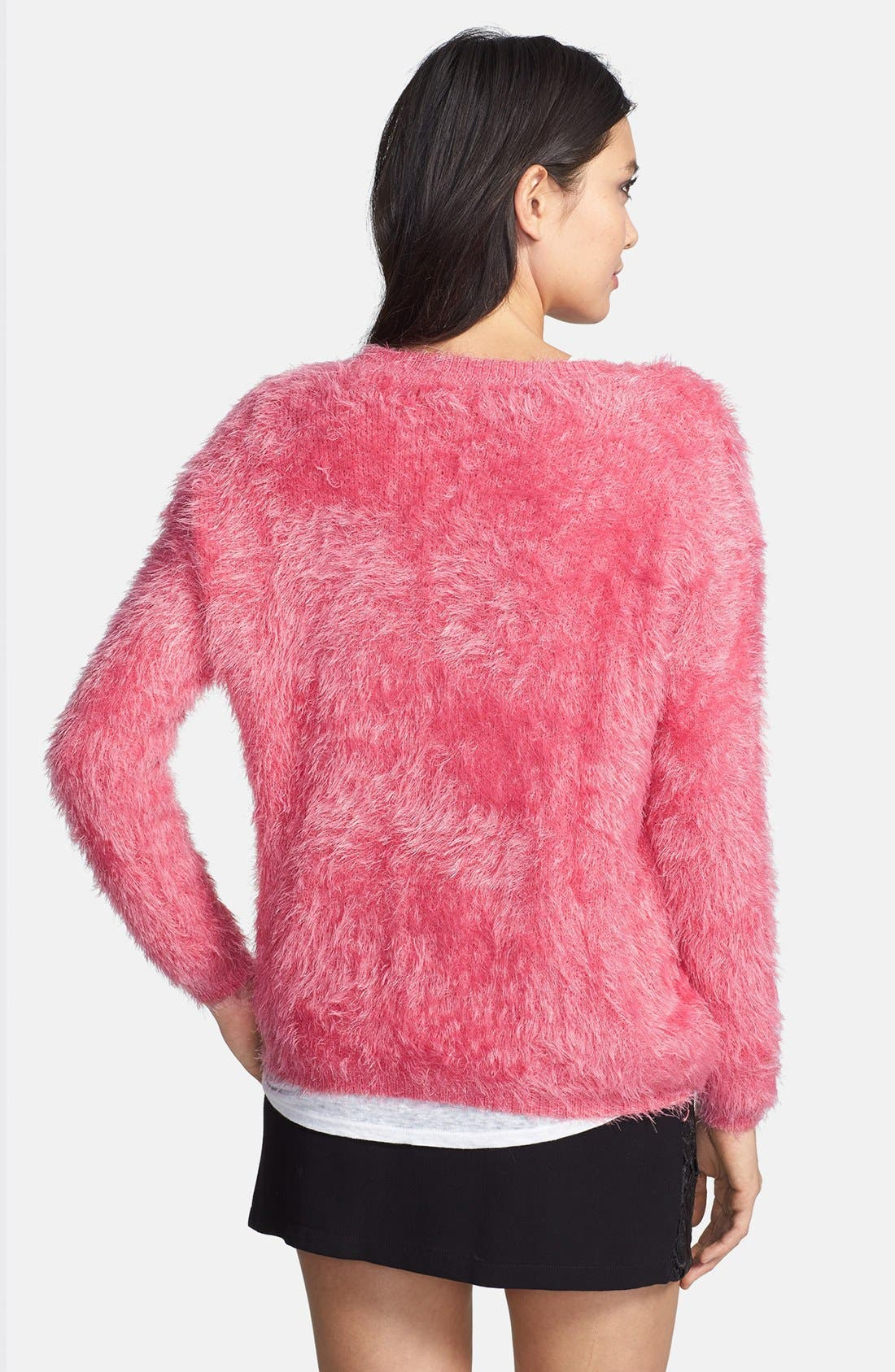 Textured Pullover,                             Alternate thumbnail 2, color,                             Bright Pink