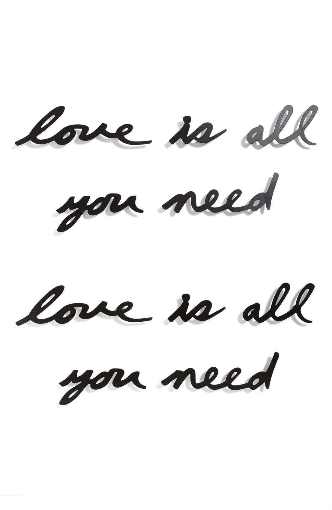 Alternate Image 1 Selected - Umbra 'Love Is All You Need' Wall Décor