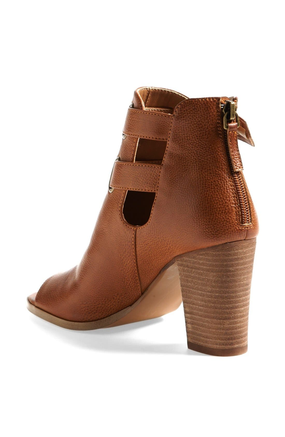 'Flexi' Bootie,                             Alternate thumbnail 2, color,                             Cognac