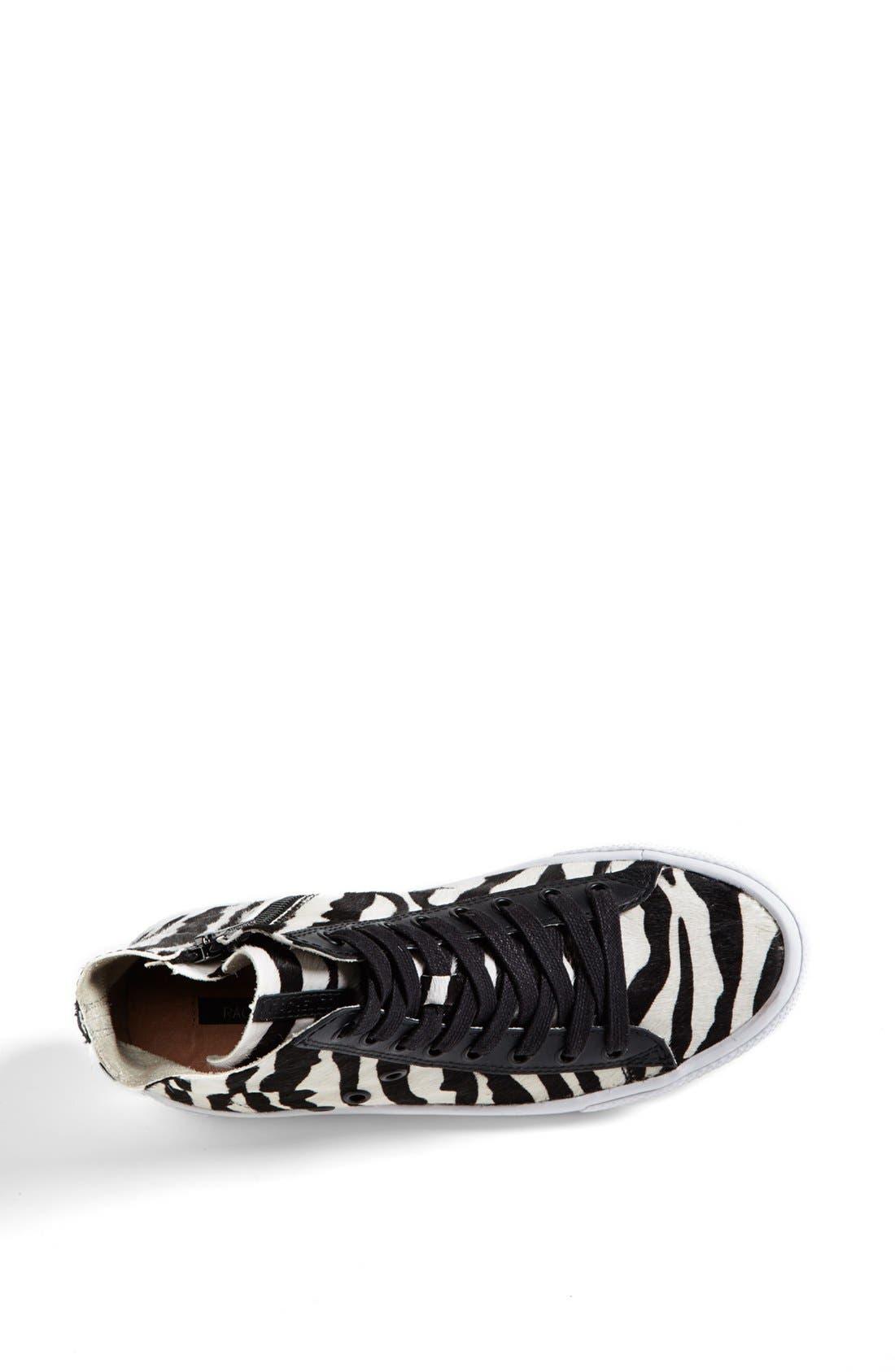 Alternate Image 3  - Rachel Zoe 'Barret' Zebra Print Calf Hair Sneaker (Online Only)