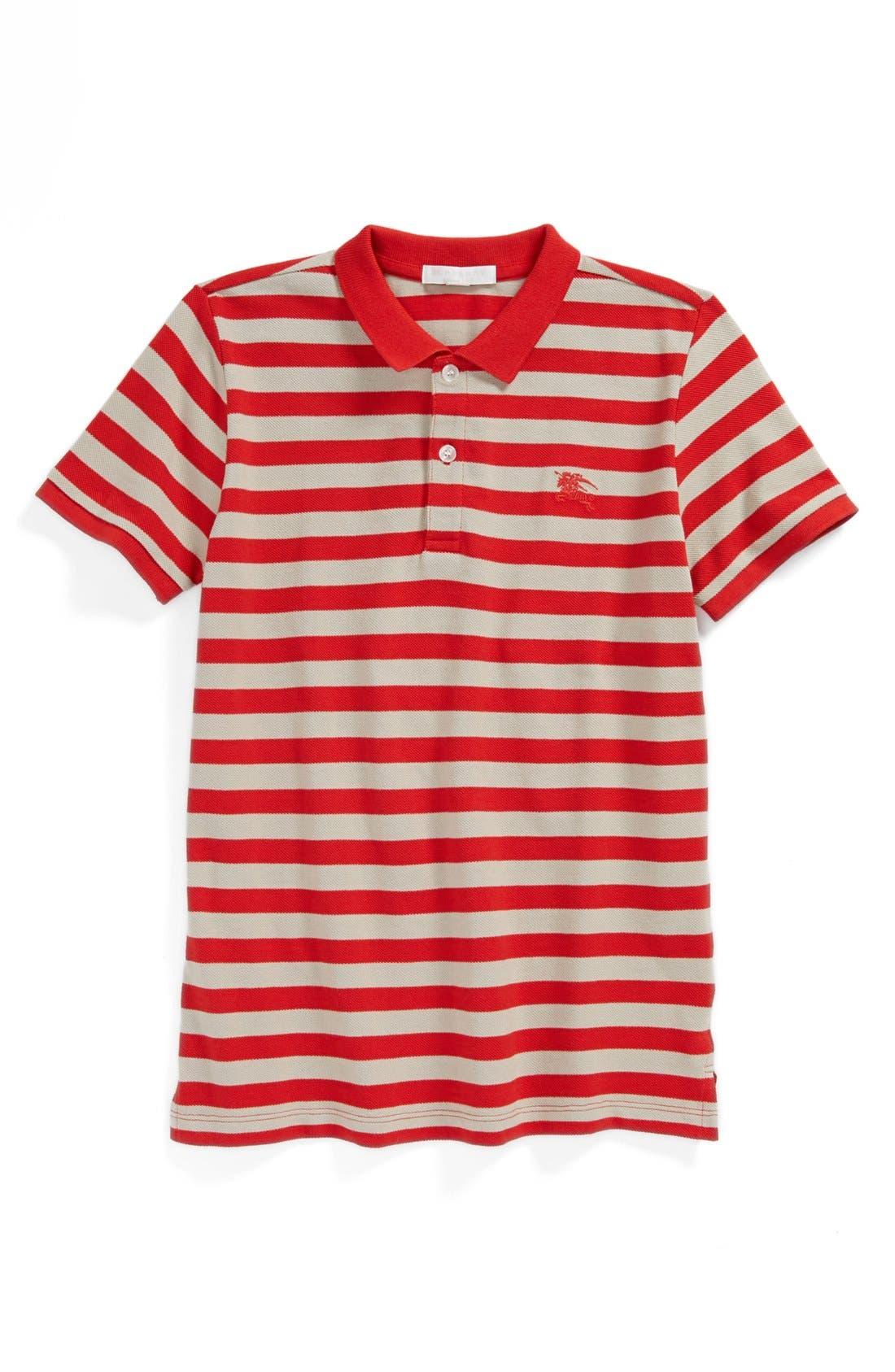 Alternate Image 1 Selected - Burberry Stripe Cotton Polo (Toddler Boys)