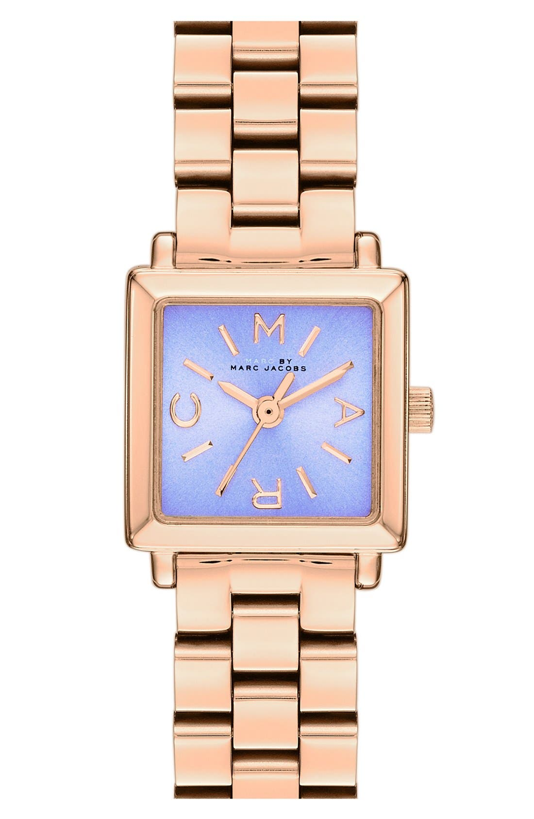 Alternate Image 1 Selected - MARC JACOBS 'Katherine' Square Dial Bracelet Watch, 19mm