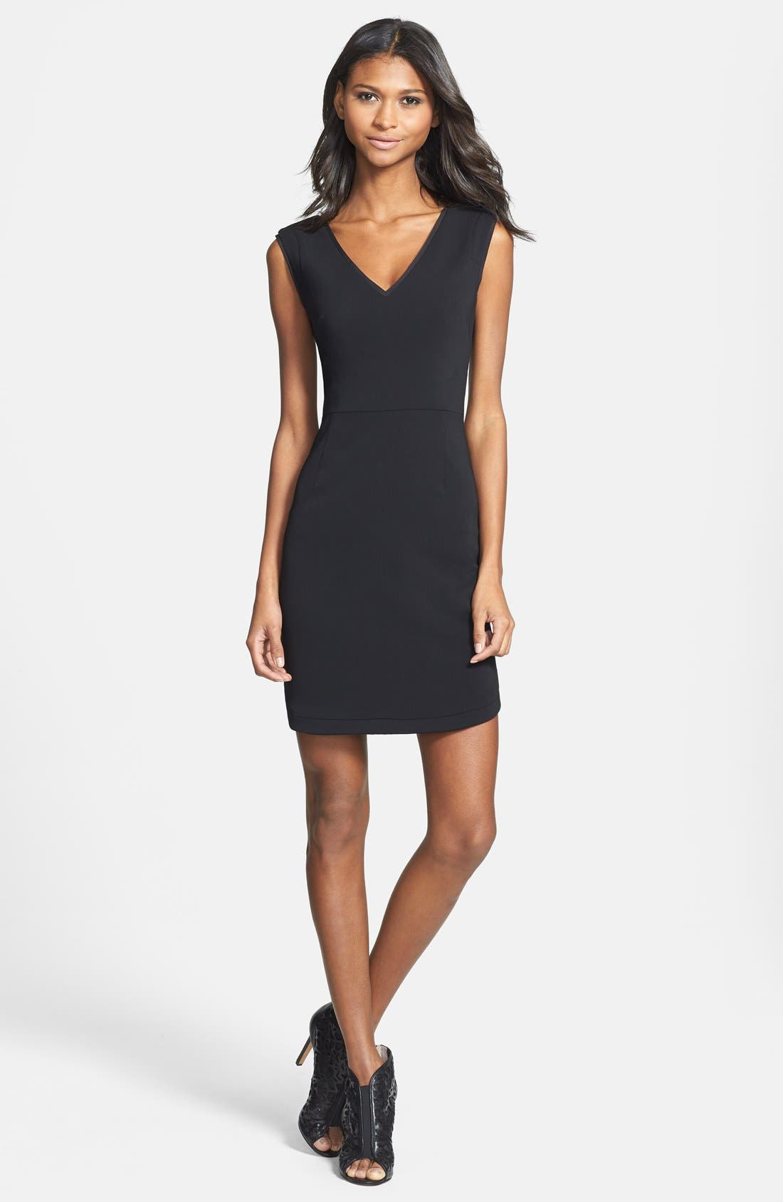 Alternate Image 3  - Ivy & Blu V-Back Sheath Dress