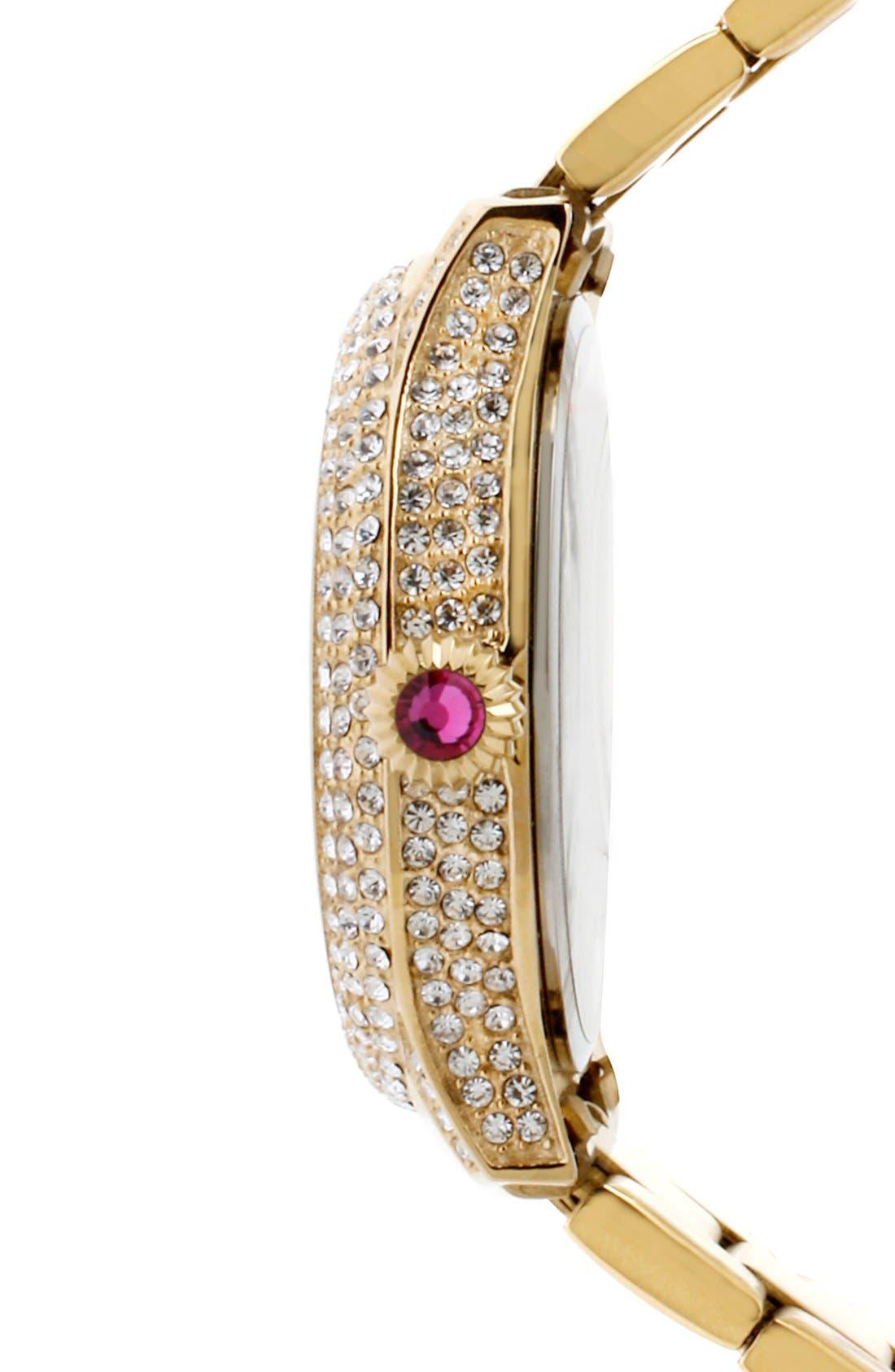 Alternate Image 3  - Betsey Johnson Pavé Case Bracelet Watch, 41mm