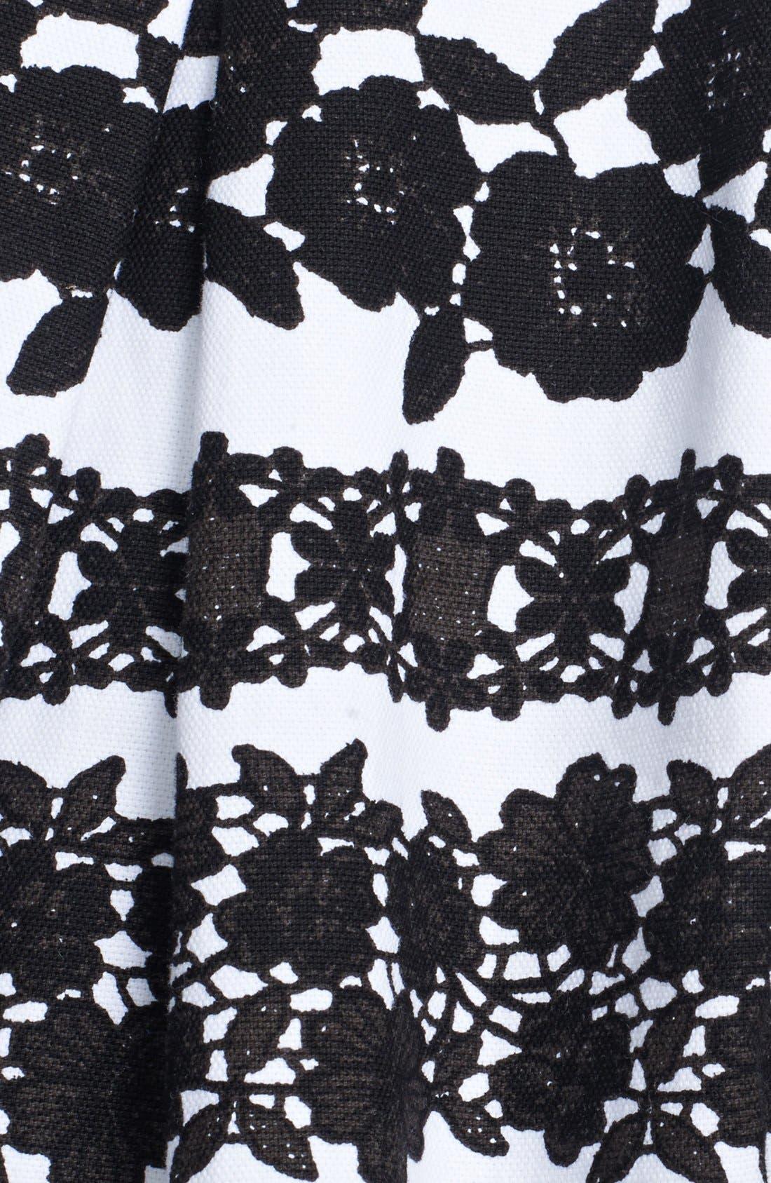 Alternate Image 4  - Oscar de la Renta Lace Print Full Skirt