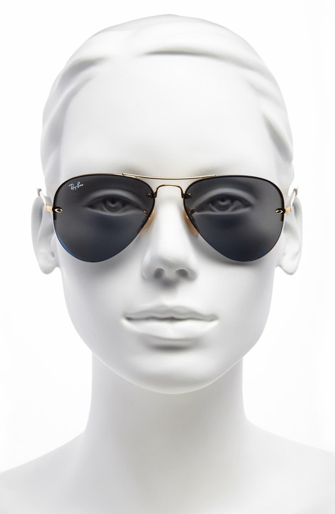 Alternate Image 2  - Ray-Ban 56mm Semi Rimless Lightweight Aviator Sunglasses