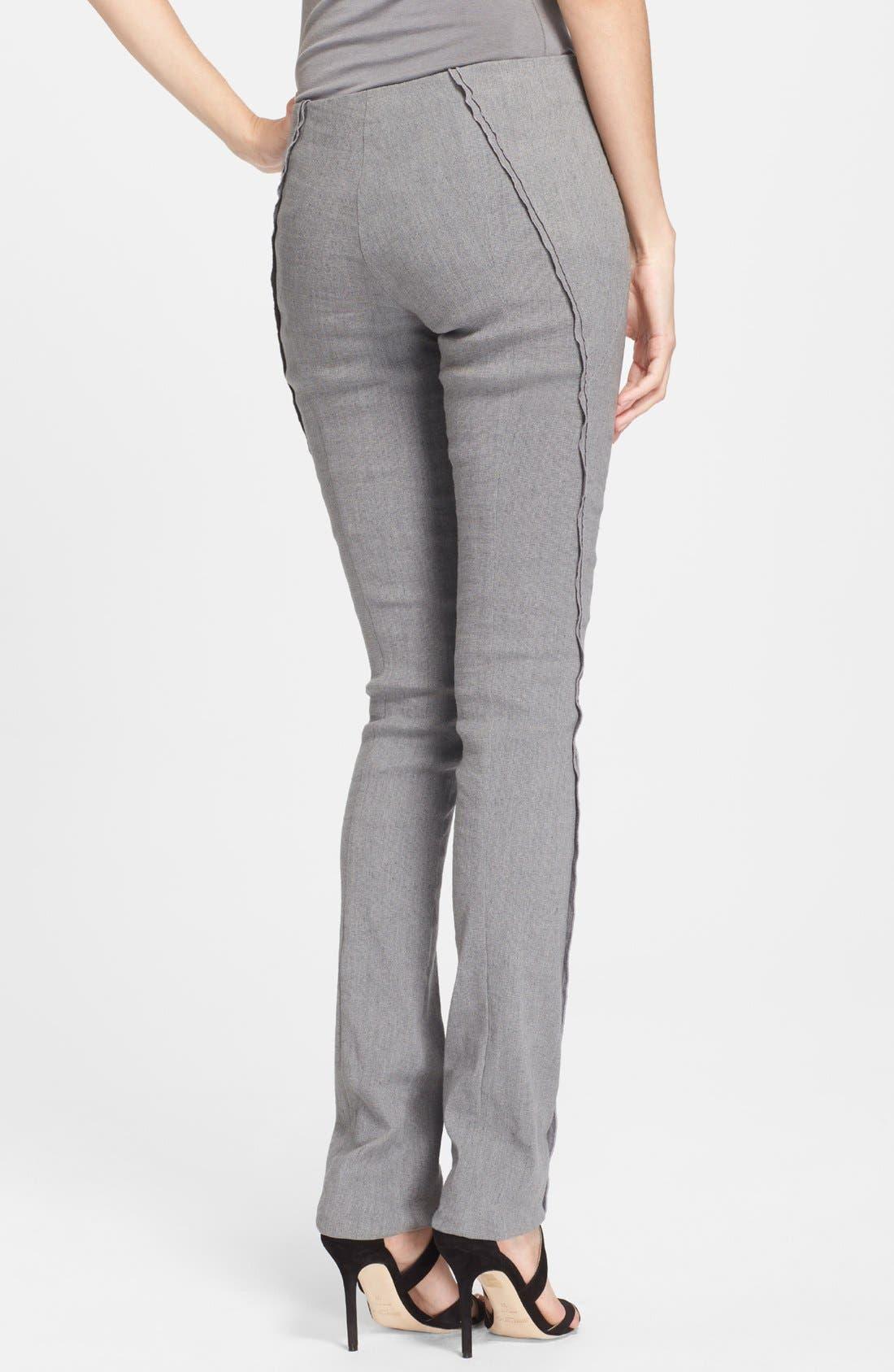 Alternate Image 2  - Donna Karan New York Seamed Linen Blend Pants