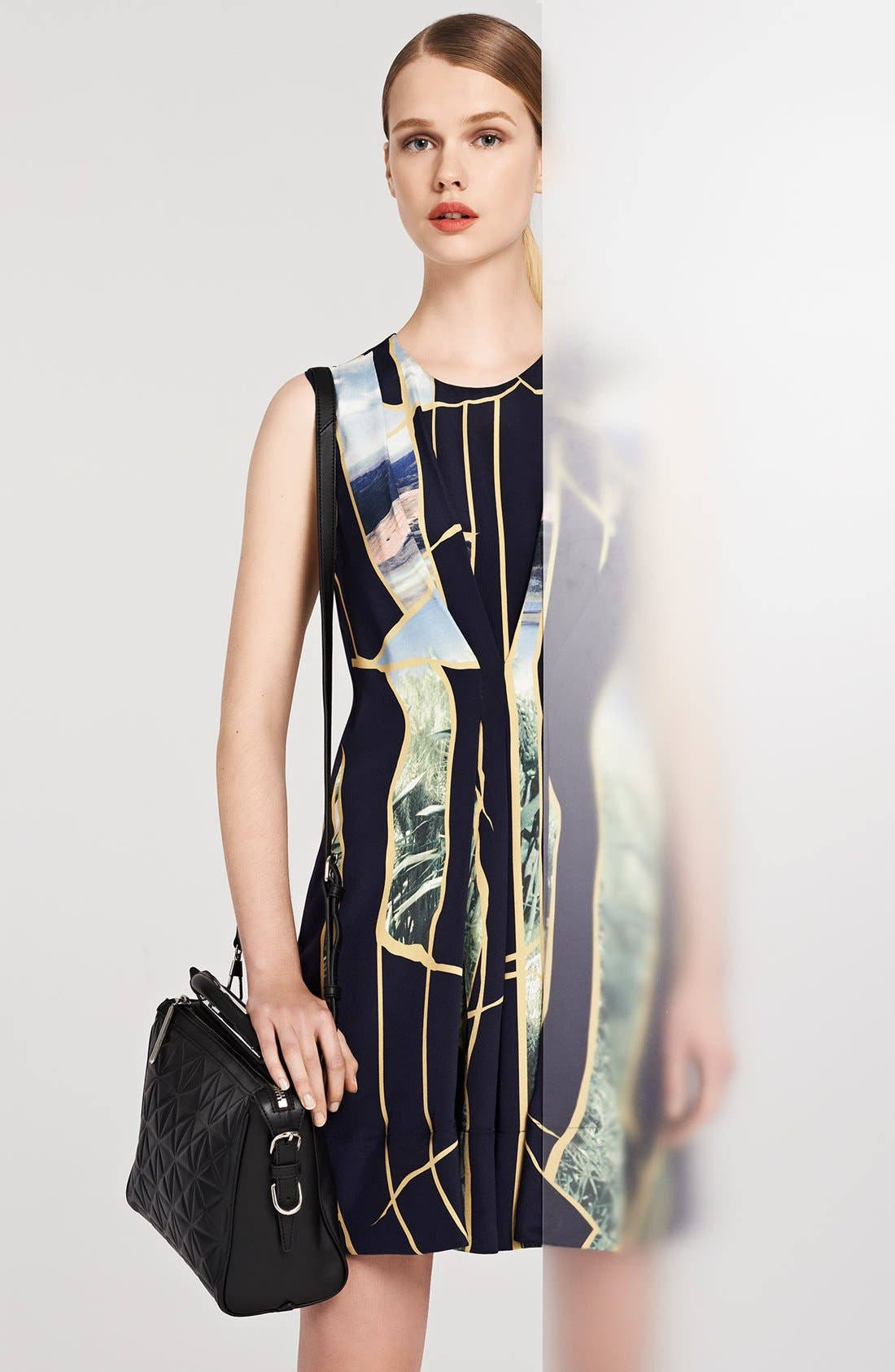 Alternate Image 4  - 3.1 Phillip Lim Gathered Front Print Silk Dress